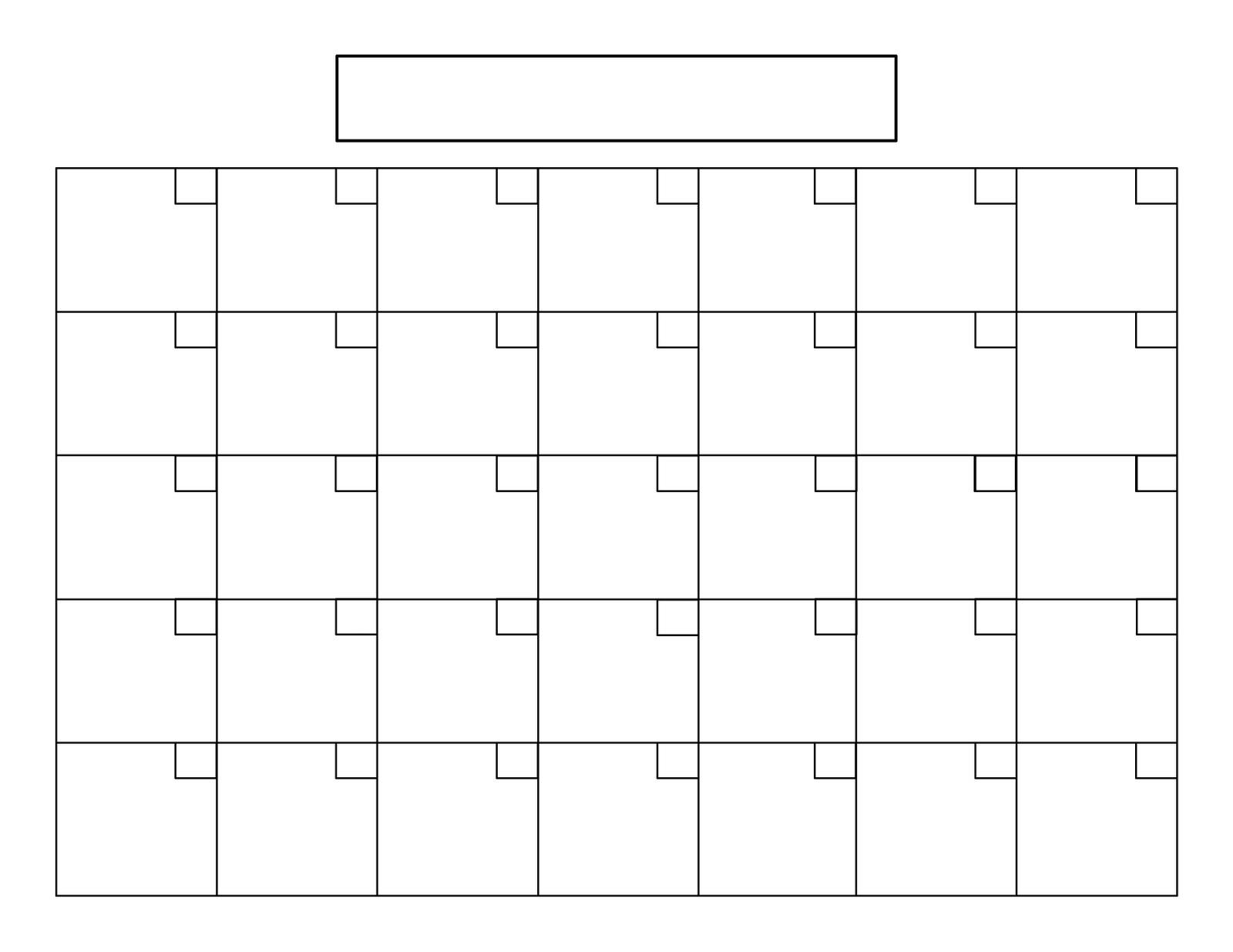16 Simple Blank Calendar Template Images - Full Size Blank regarding 8.5 X 11 Calendar Template