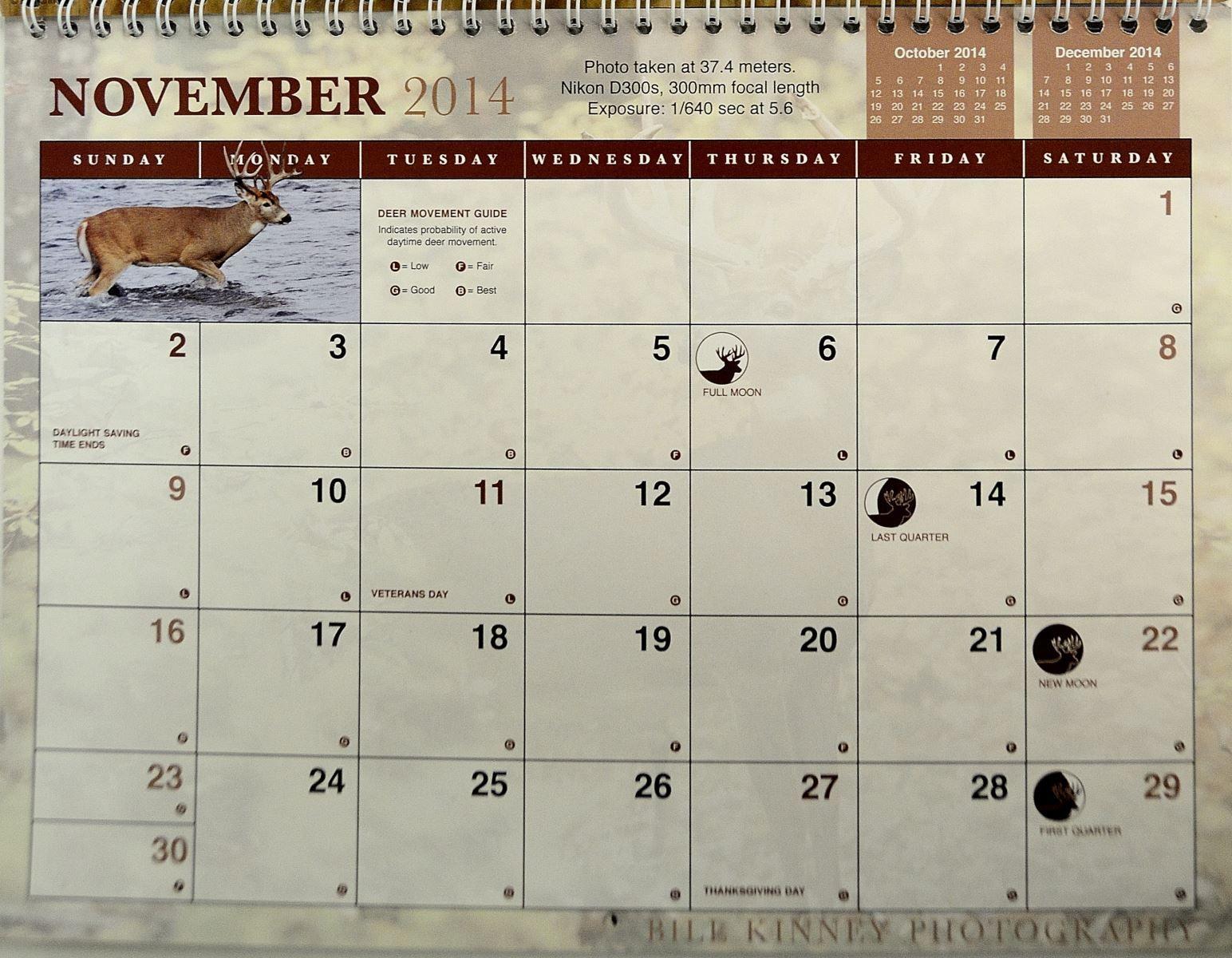 2014 Rut Predictions | Hunting Calendar, Time To Hunt, Deer for Deer Rut Calendar