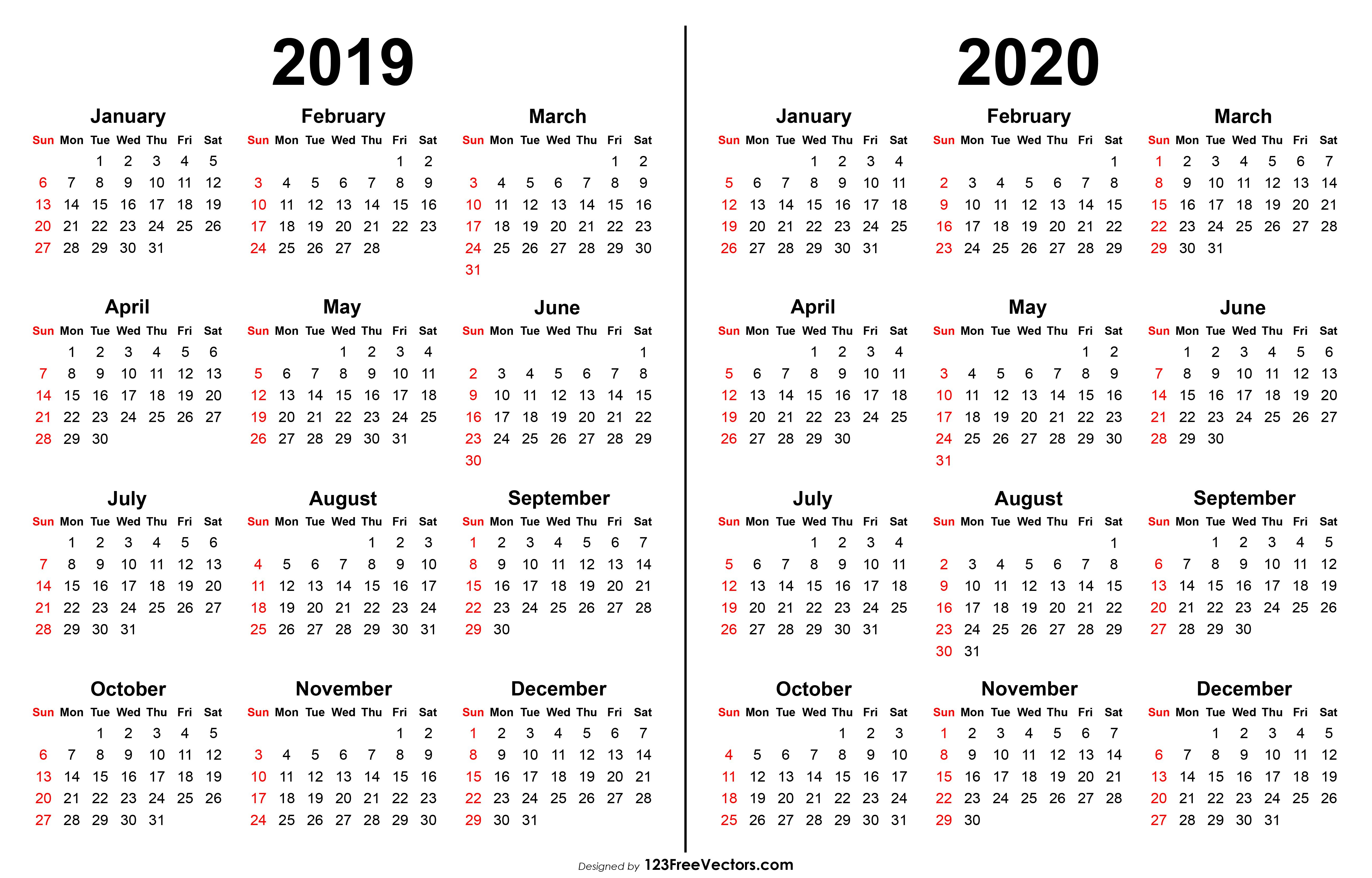 2019 2020 Calendar | Calendario, Calendario Escolar Y Agenda pertaining to Template Calendario Escolar 2020