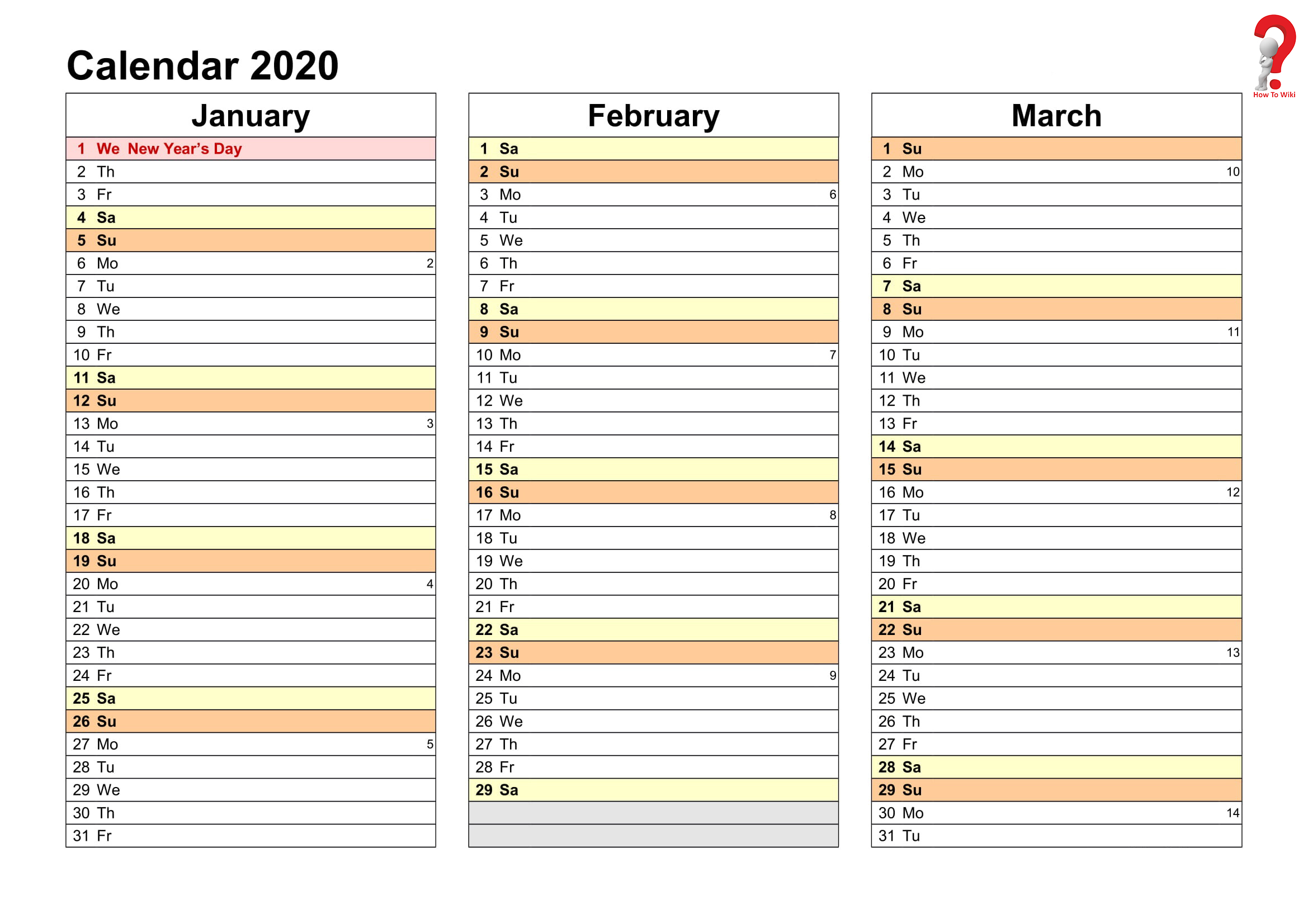 2019 And 2020 Yearly Planner In Excel | Free Printable in Free Printable Yearly Planner 2020
