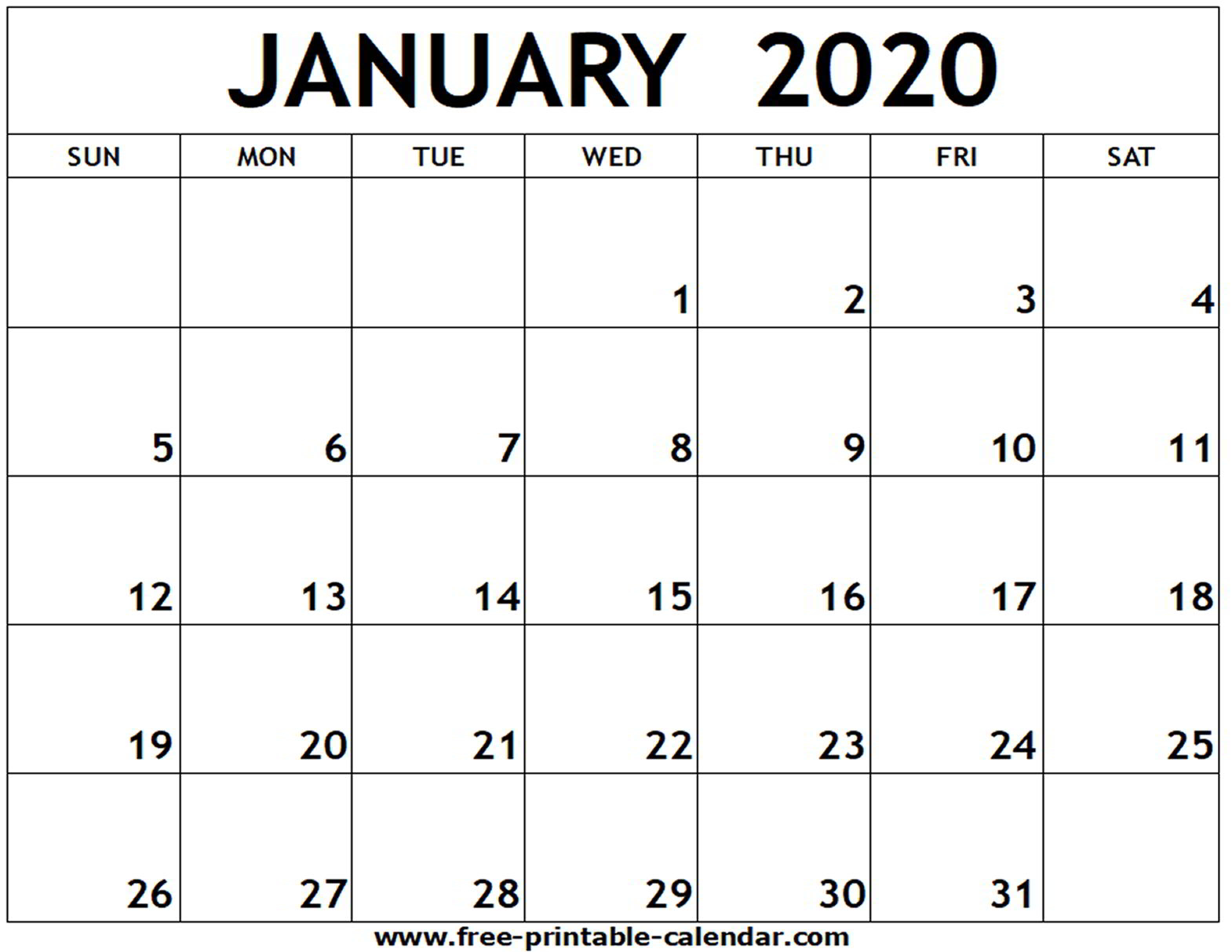 2020 Blank Calendar Monthly - Wpa.wpart.co regarding 2020 Monthly Fill In Calendars