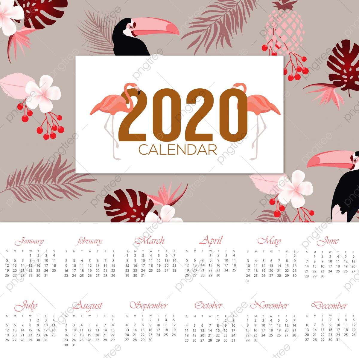 2020 Calendar Design, Calendar, Christmas, Illustration Png inside Festive Printable Calendar 2020