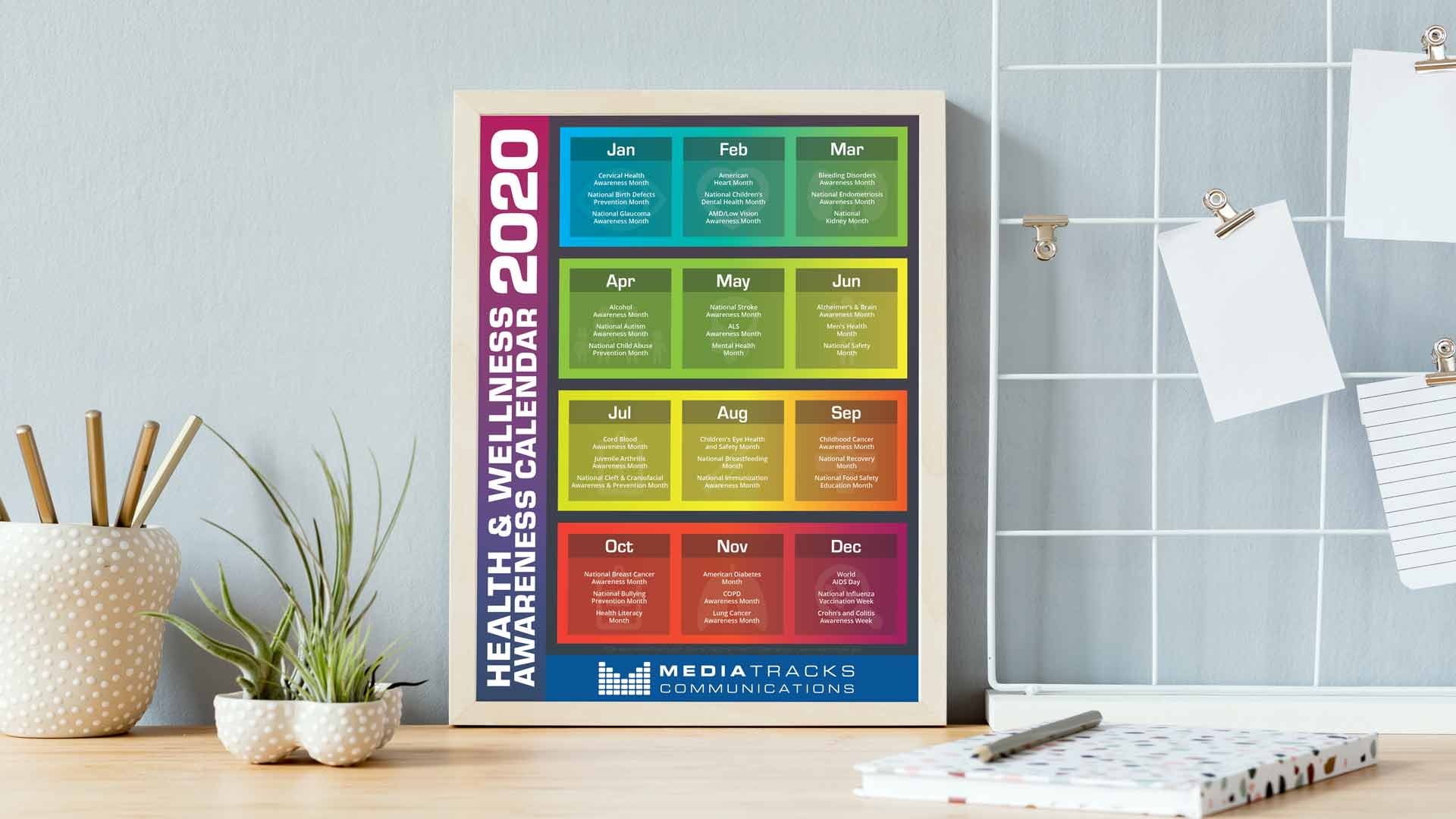 2020 Health & Wellness Awareness Calendar [Infographic inside National Food Day With Events Calender 2020 Free To Print Up