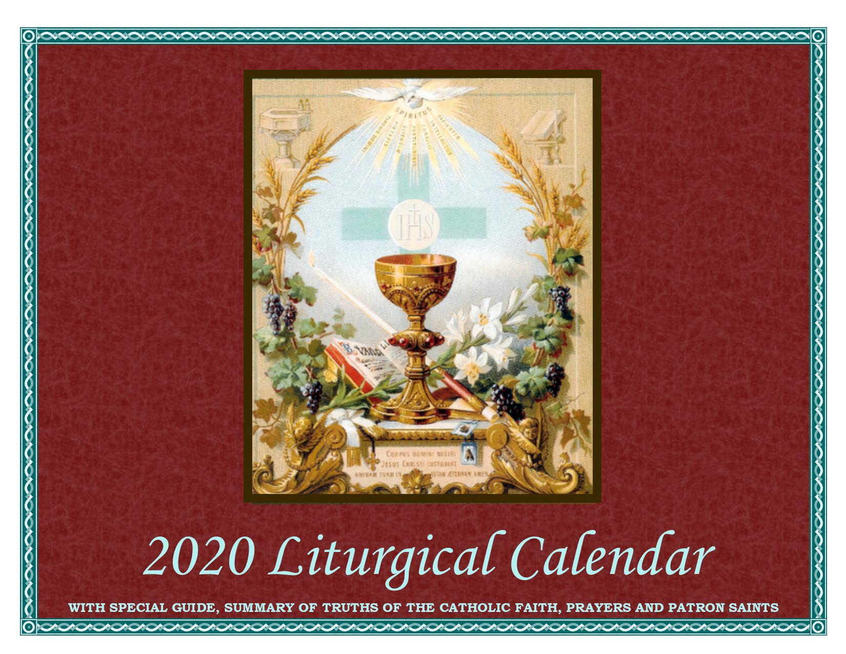 2020 Liturgical Calendar regarding 2020 Catholic Liturgical Calendar Activities