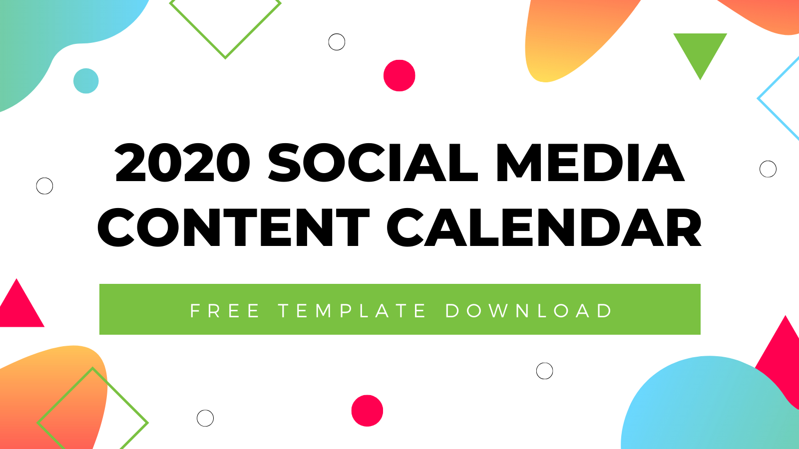 2020 Social Media Content Calendar Template | Free Download within National Food Day With Events Calender 2020 Free To Print Up
