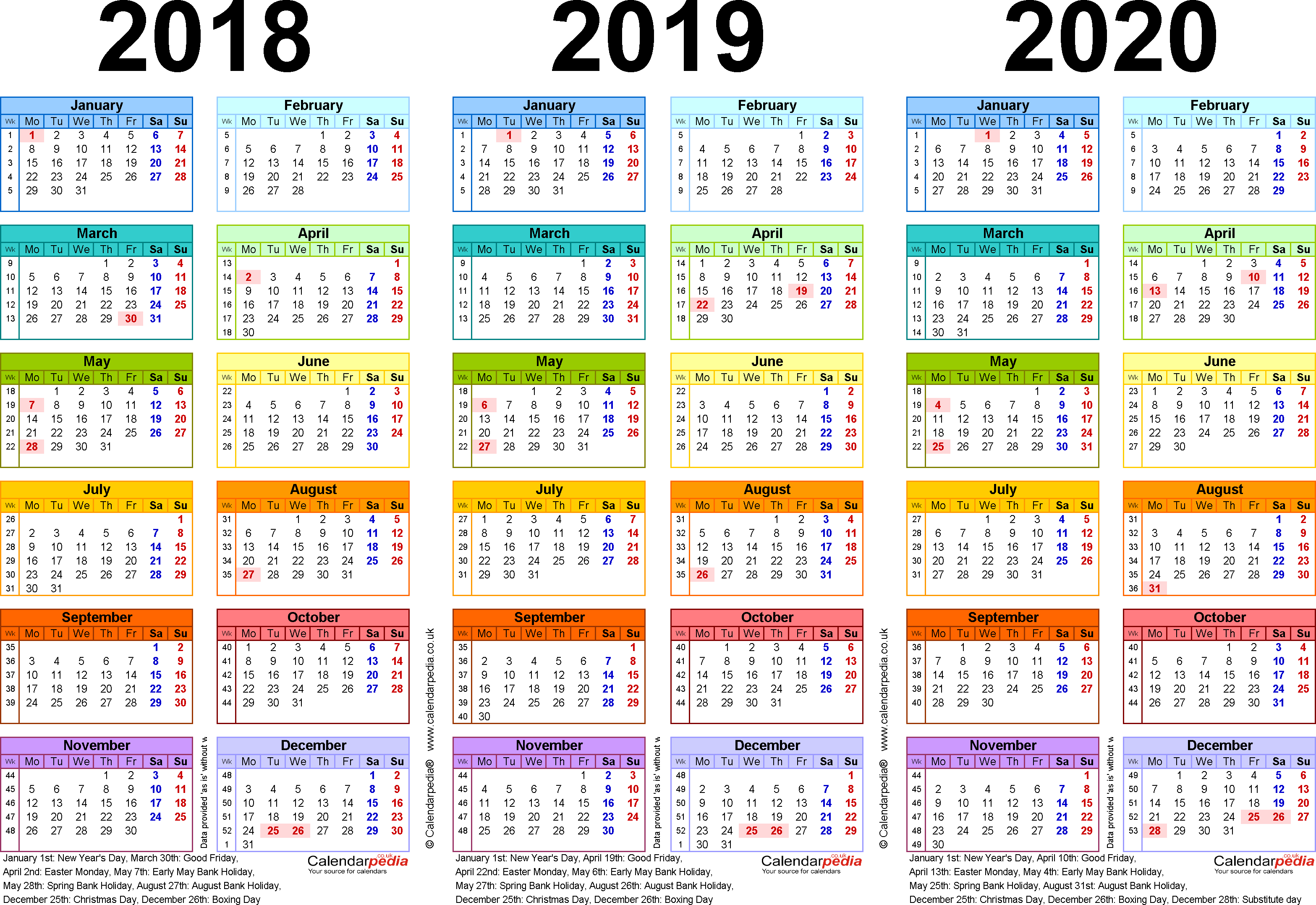 3 Year Calendar - Wpa.wpart.co in Three Year Calendar 2020 2021 2022
