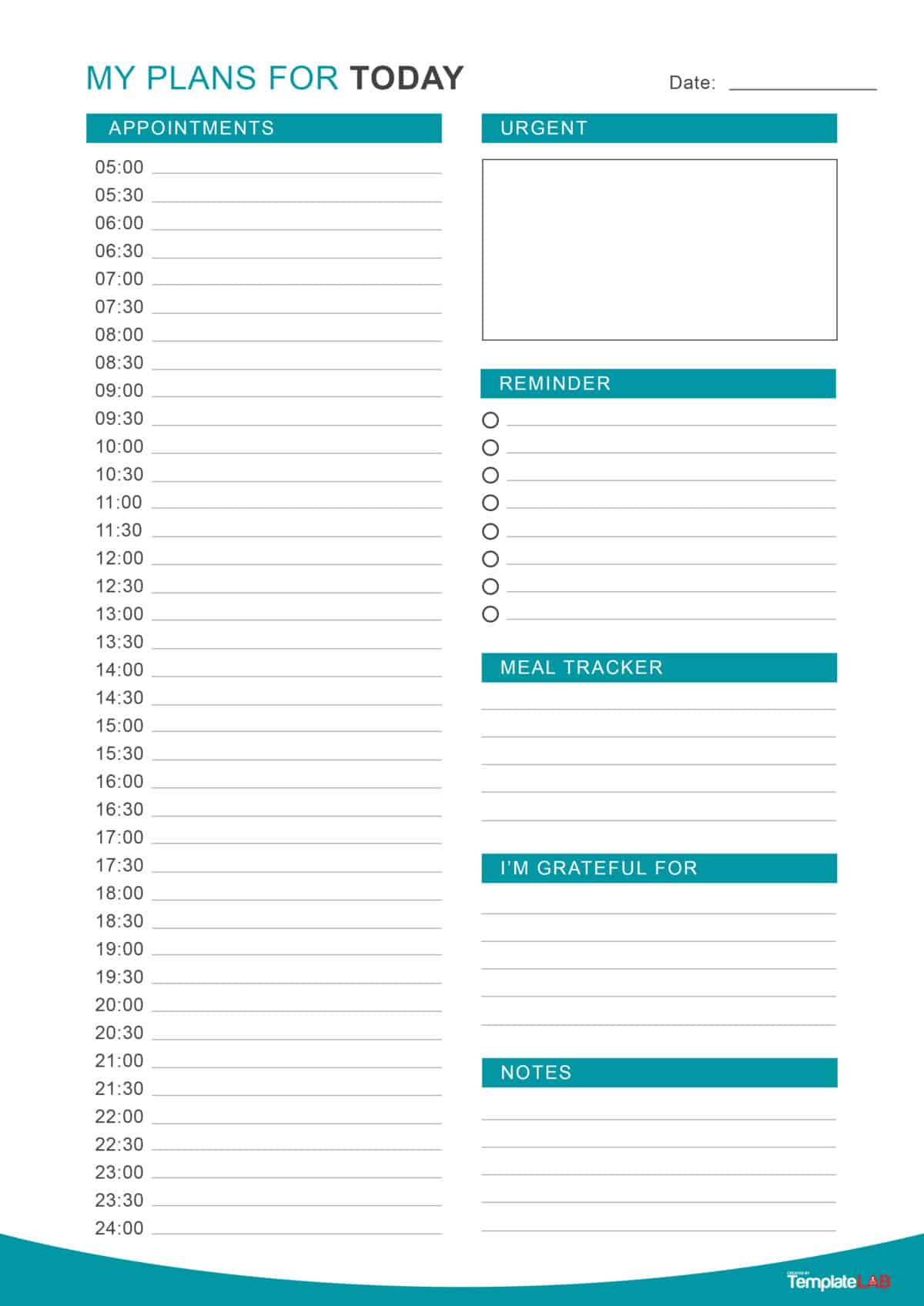 47 Printable Daily Planner Templates (Free In Word/excel/pdf) pertaining to Printable Daily Planner Sheets