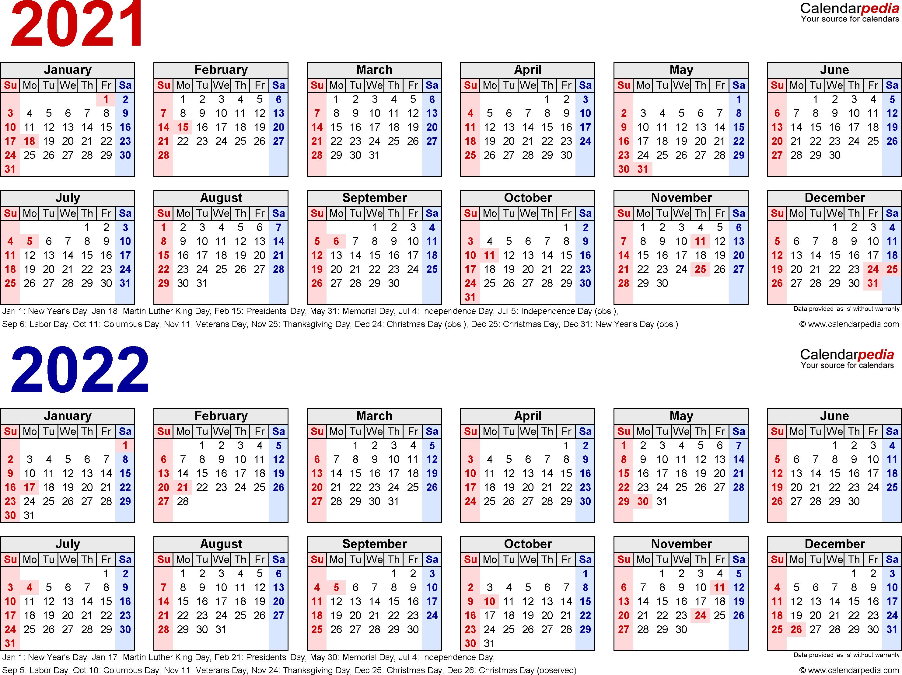 5 Year Calendar Printable - Wpa.wpart.co in Free Printable Calendar 2020-2022