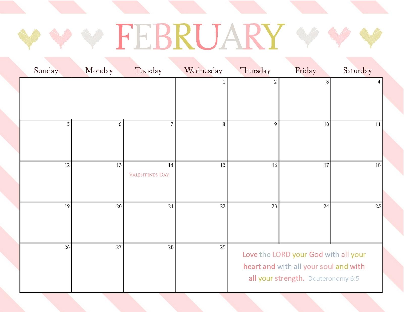 8.5 X 11 2016 Calendars Printable | Calendar Template 2019 in 8.5 X 11 Calendar Template