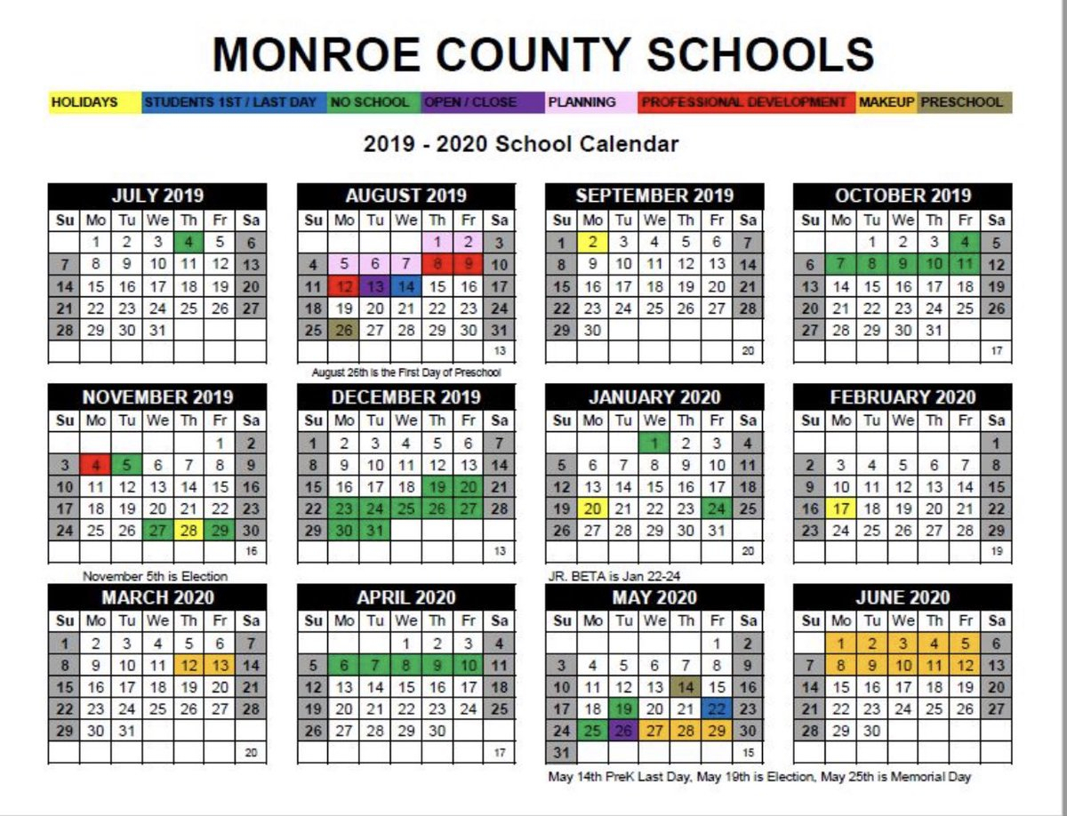"Amy Thompson On Twitter: ""mcsd 2019-2020 School Calendar pertaining to Calander 2020 We Does The School Close"
