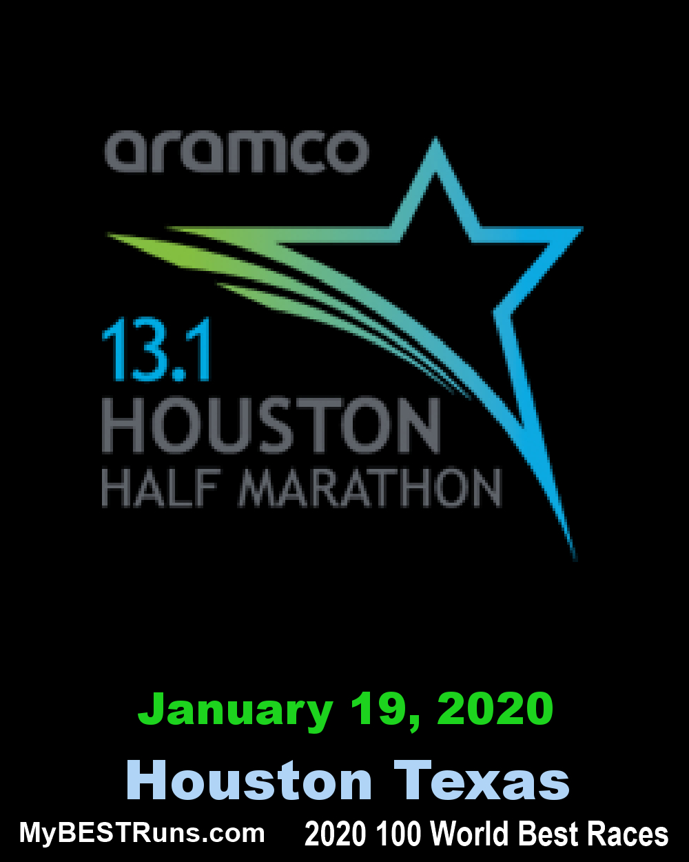 Aramco Houston Half Marathon - Houston, Texas - 1/19/2020 inside 2020 Aramco Calendar