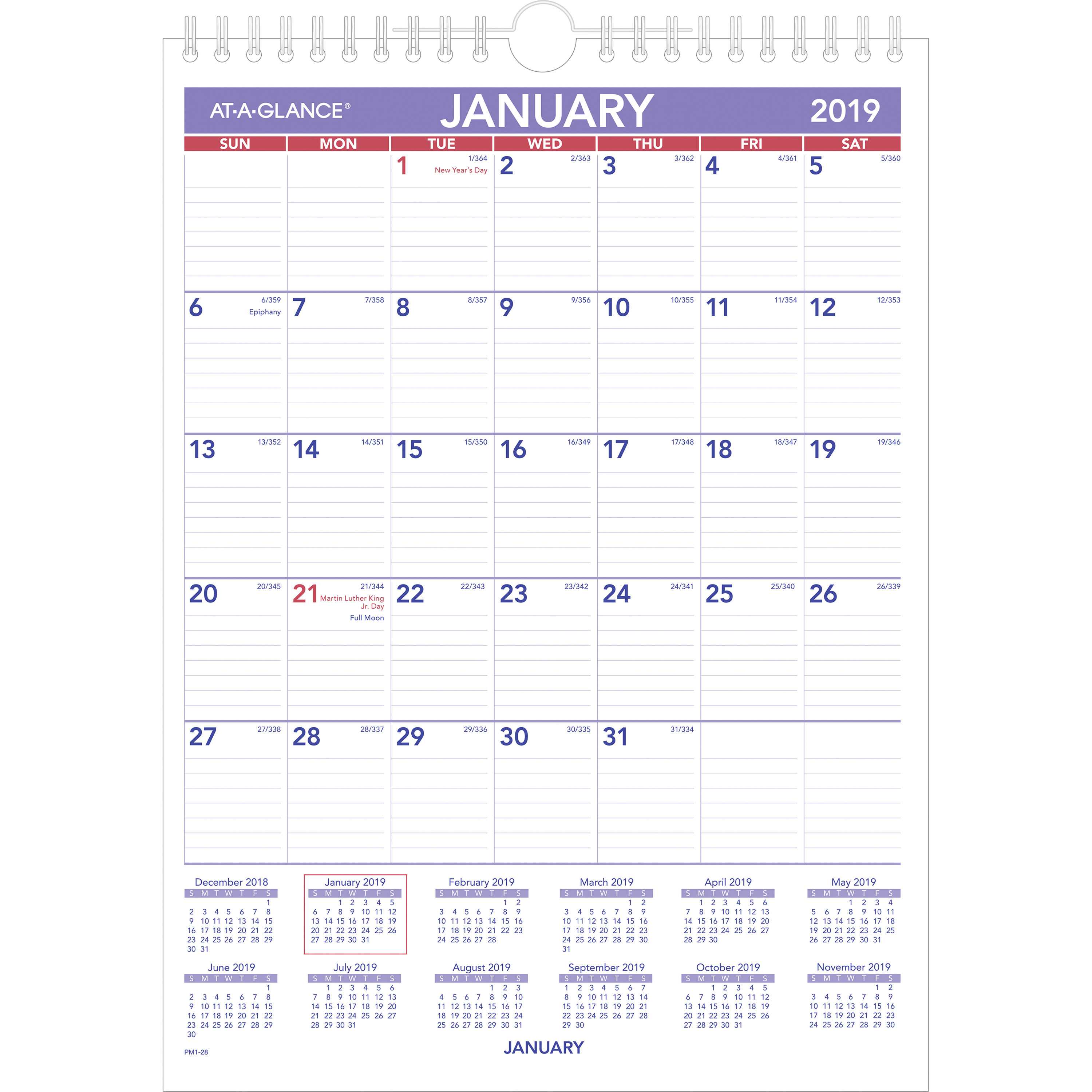 "At-A-Glance Recycled Monthly Wall Calendar - Yes - Monthly - 1 Year -  January 2020 Till December 2020 - 1 Month Single Page Layout - 8"" X 11"" -  Wire with 2020 December Calendar 8 X11 Printable"