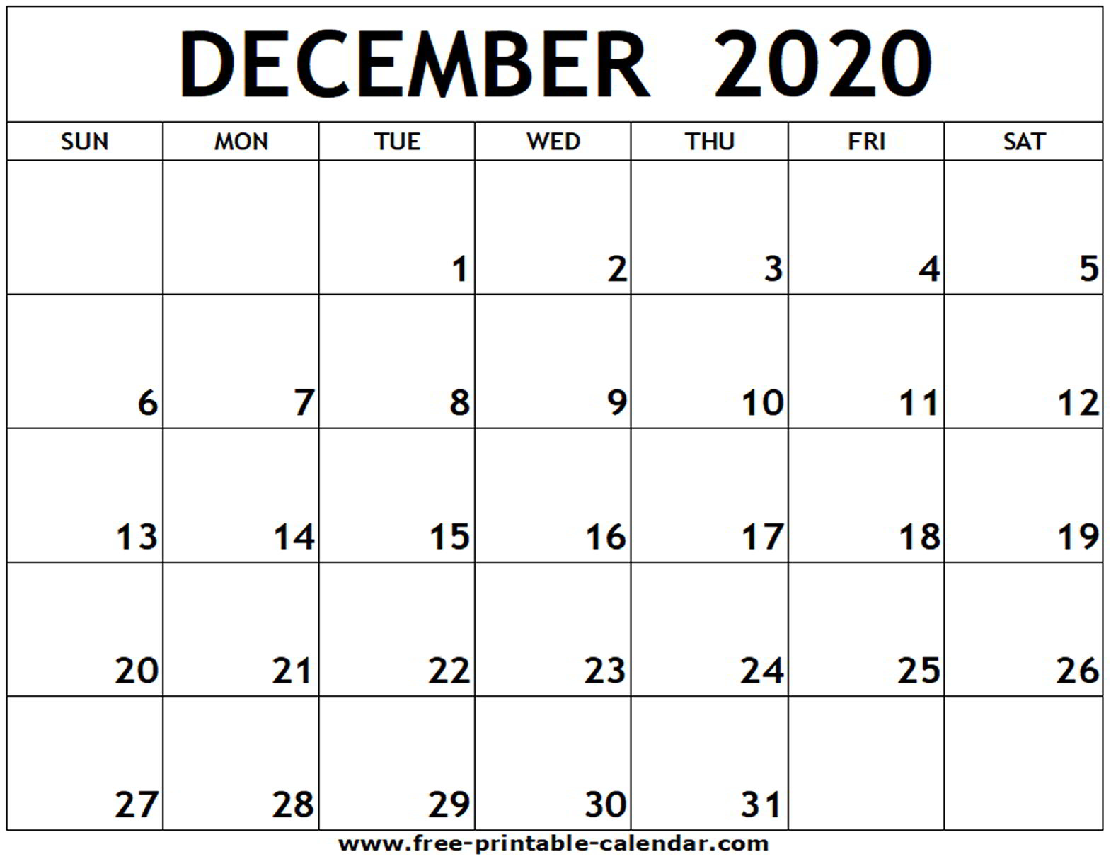 Blank Calendar For December 2020 - Wpa.wpart.co throughout October To December 2020 Calendar