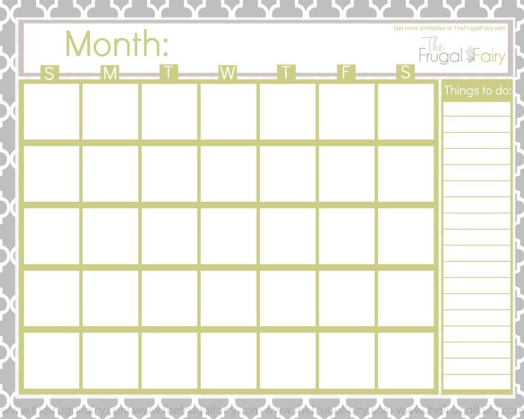 Blank Calendar Tff | Printable Blank Calendar, Blank within Blank Calendar Pretty