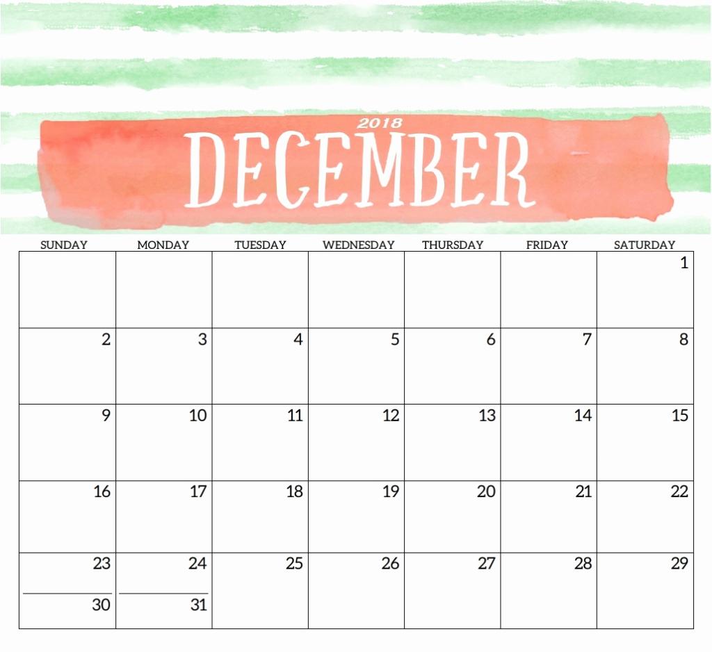 Blank December Calendar 2019 Printable Template Free in Blank Calendar Pretty