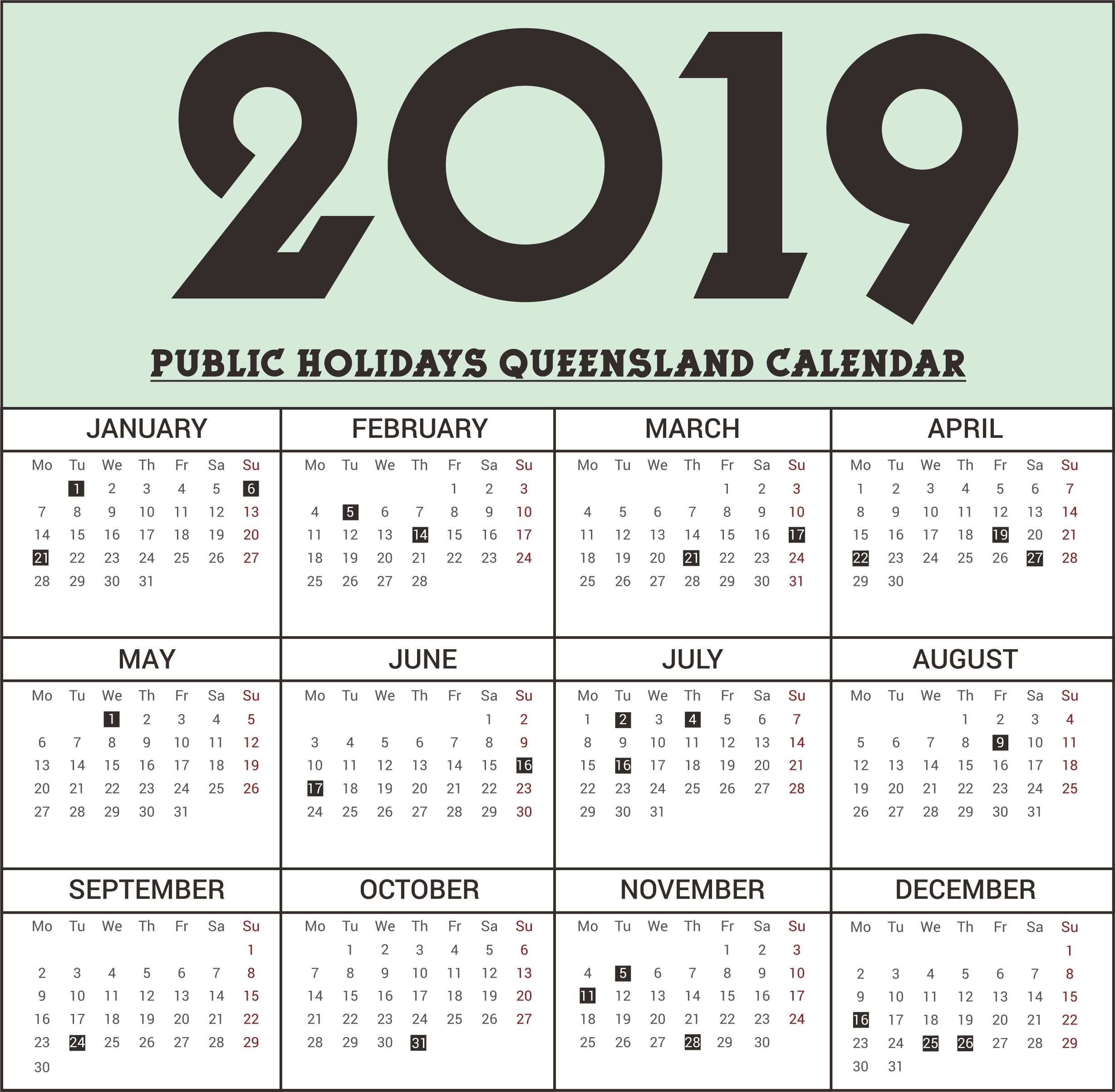 Calendar 2018 School Holidays Qld | Bray Park State High throughout Qld School Calendar 2020 Printable