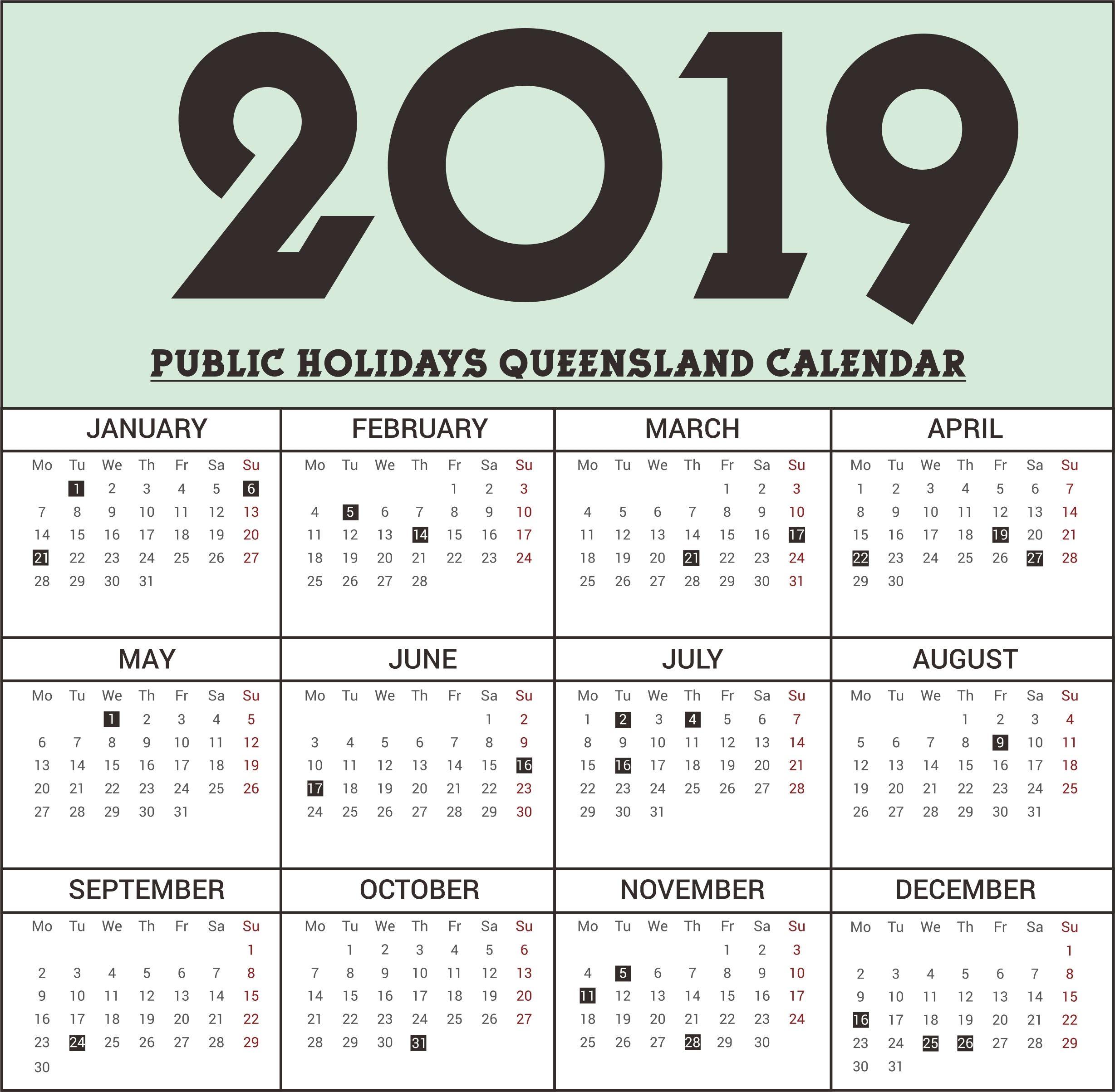 Calendar 2018 School Holidays Qld | Bray Park State High with regard to 2020 Qld School Calendar Printable