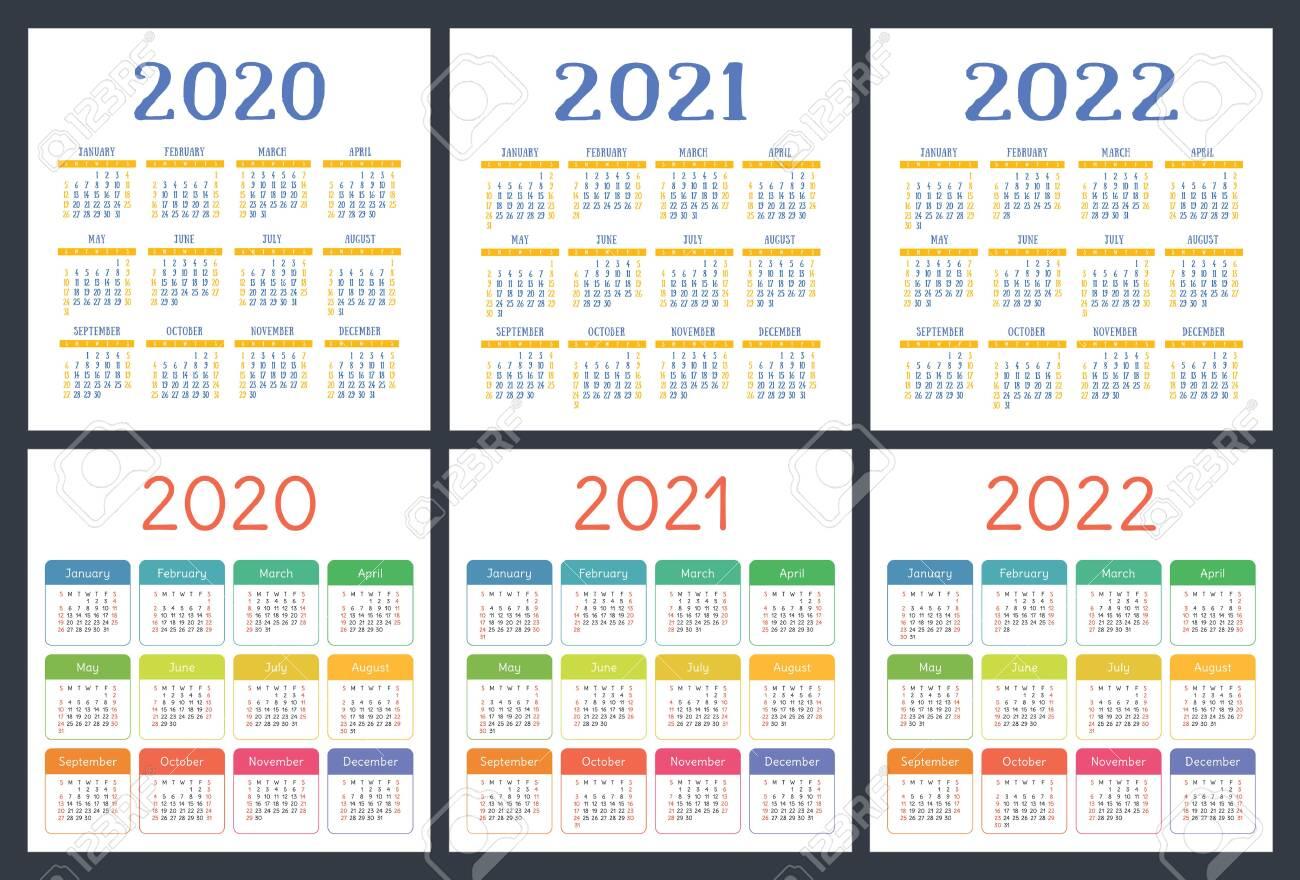 2 Year Pocket Calendar 2020 2021 | Calendar Template ...