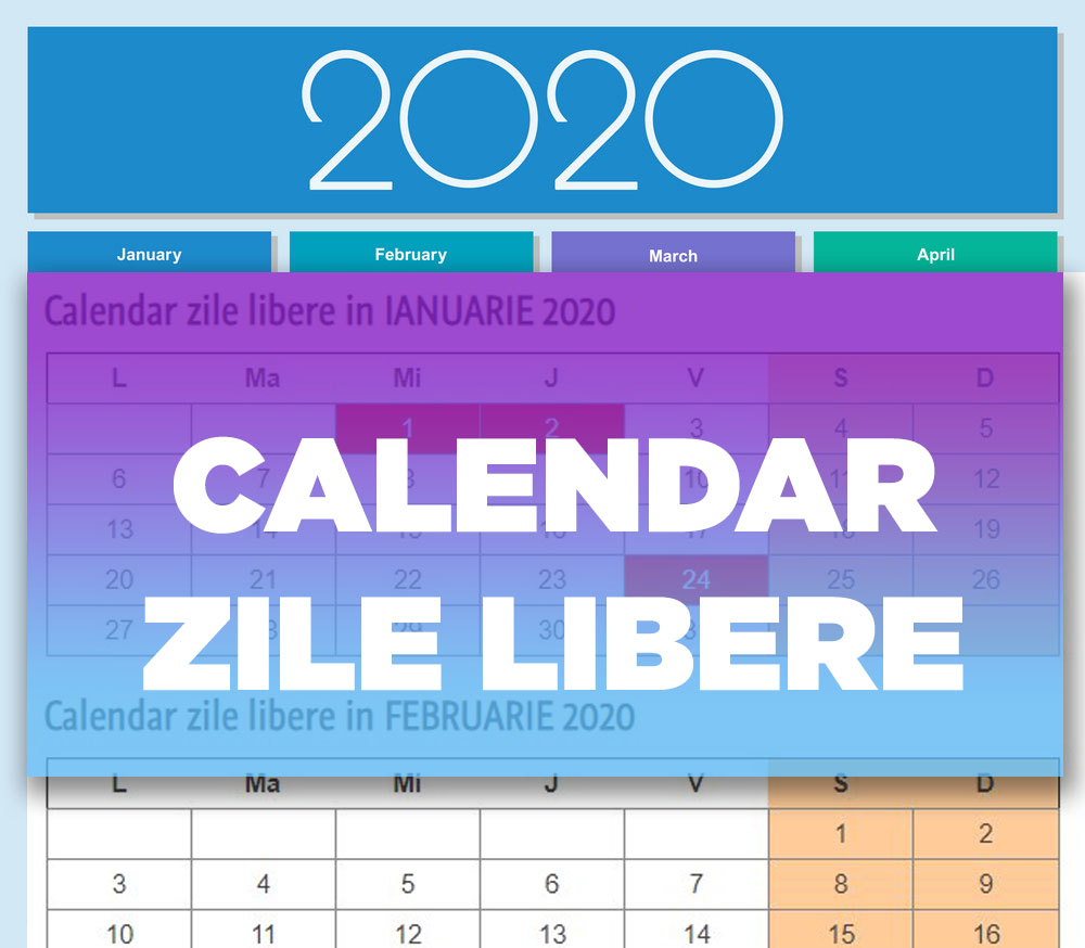 Calendar Zile Libere 2020 | Dragoş Şerban intended for Calendar 2020 Zile Libere