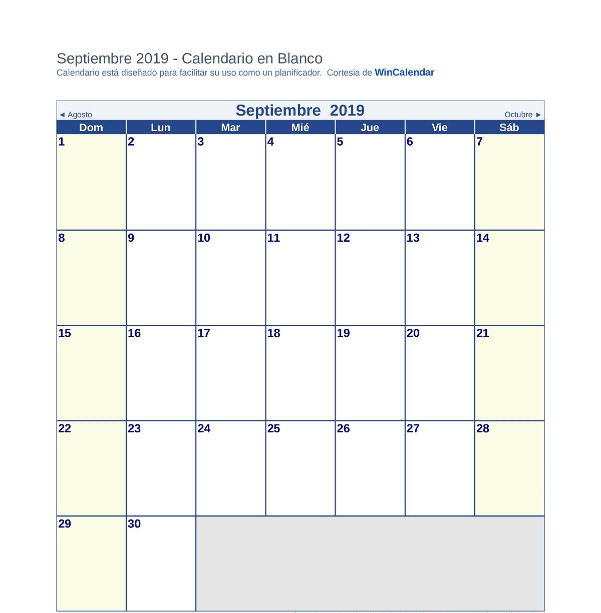 Calendario Escolar 2019 2020, Más De 100 Calendarios regarding Template Calendario Escolar 2020