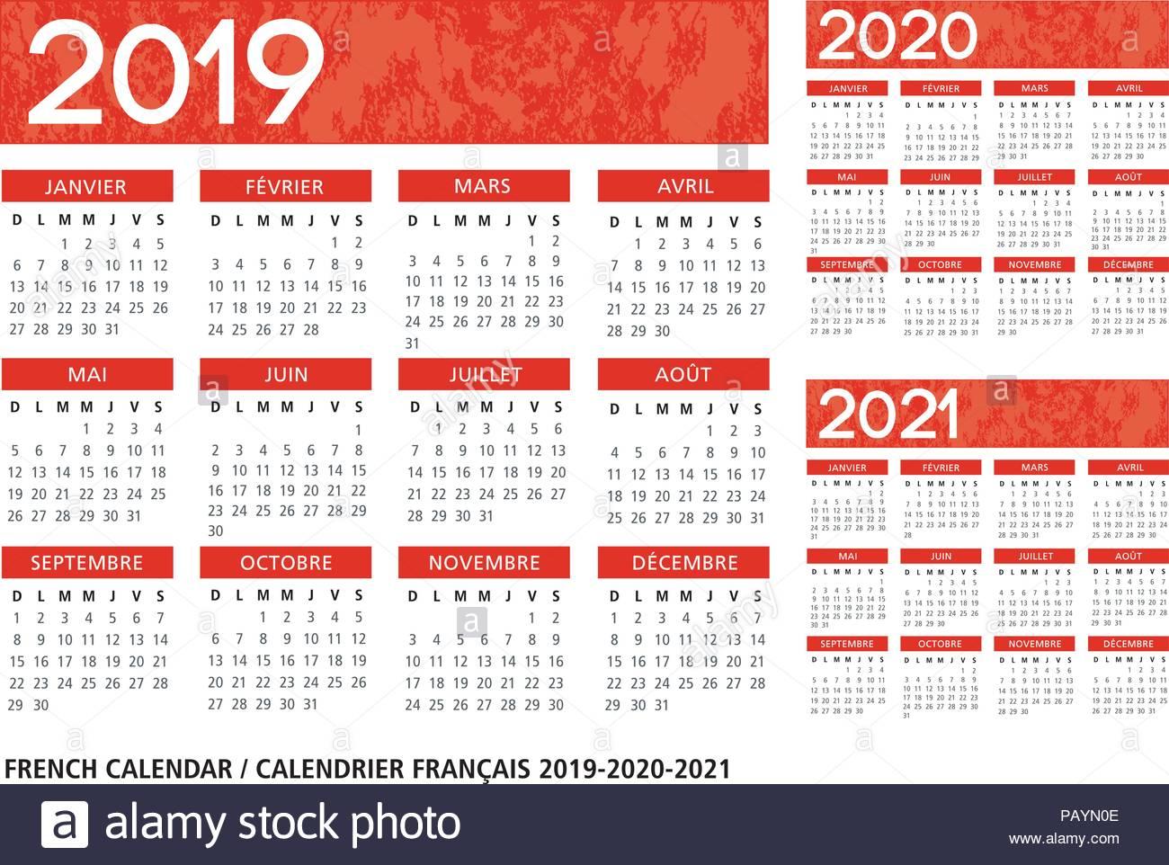 Calendario Frances 2020 intended for Template Calendario Escolar 2020