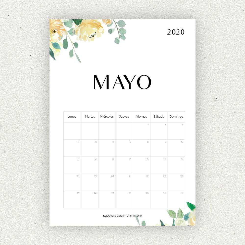 Calendario Para Imprimir 2020 - Papelería Para Imprimir with regard to Template Calendario Escolar 2020