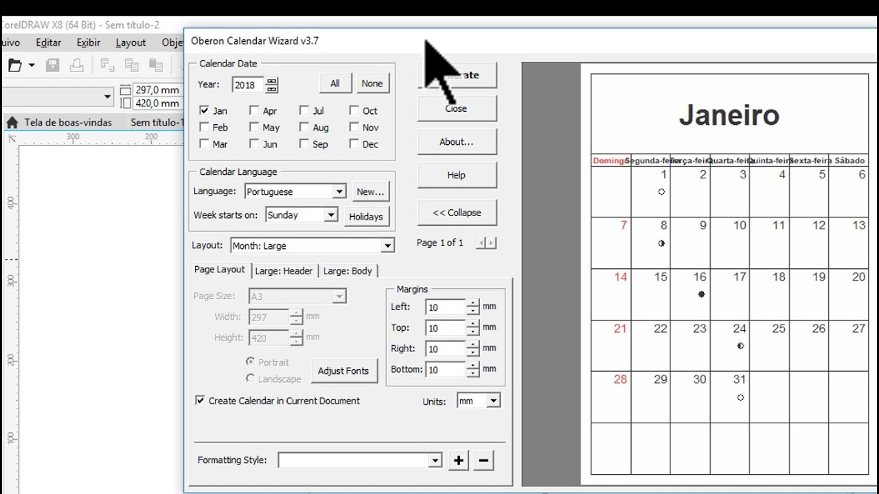 Calender Wizard - Wpa.wpart.co with regard to Calendar Wizard 2020 Indesign
