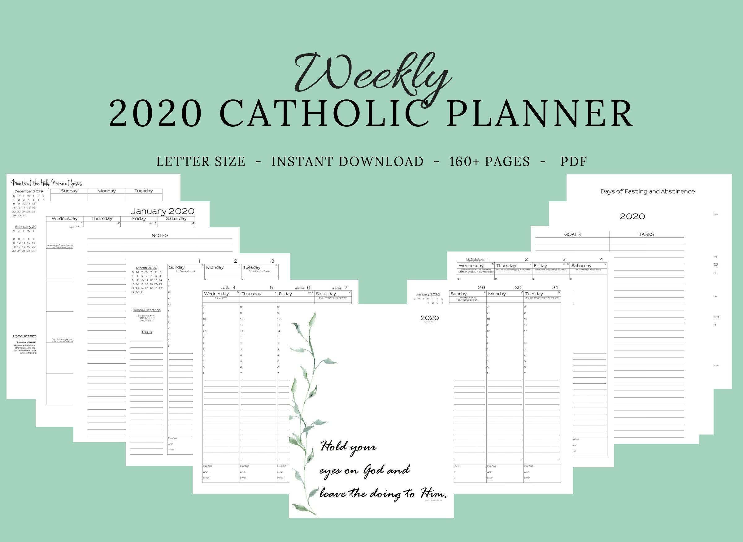 Catholic Liturgical Calendar 2020 Pdf - Calendar Inspiration for 2020 Catholic Liturgical Calendar Pdf