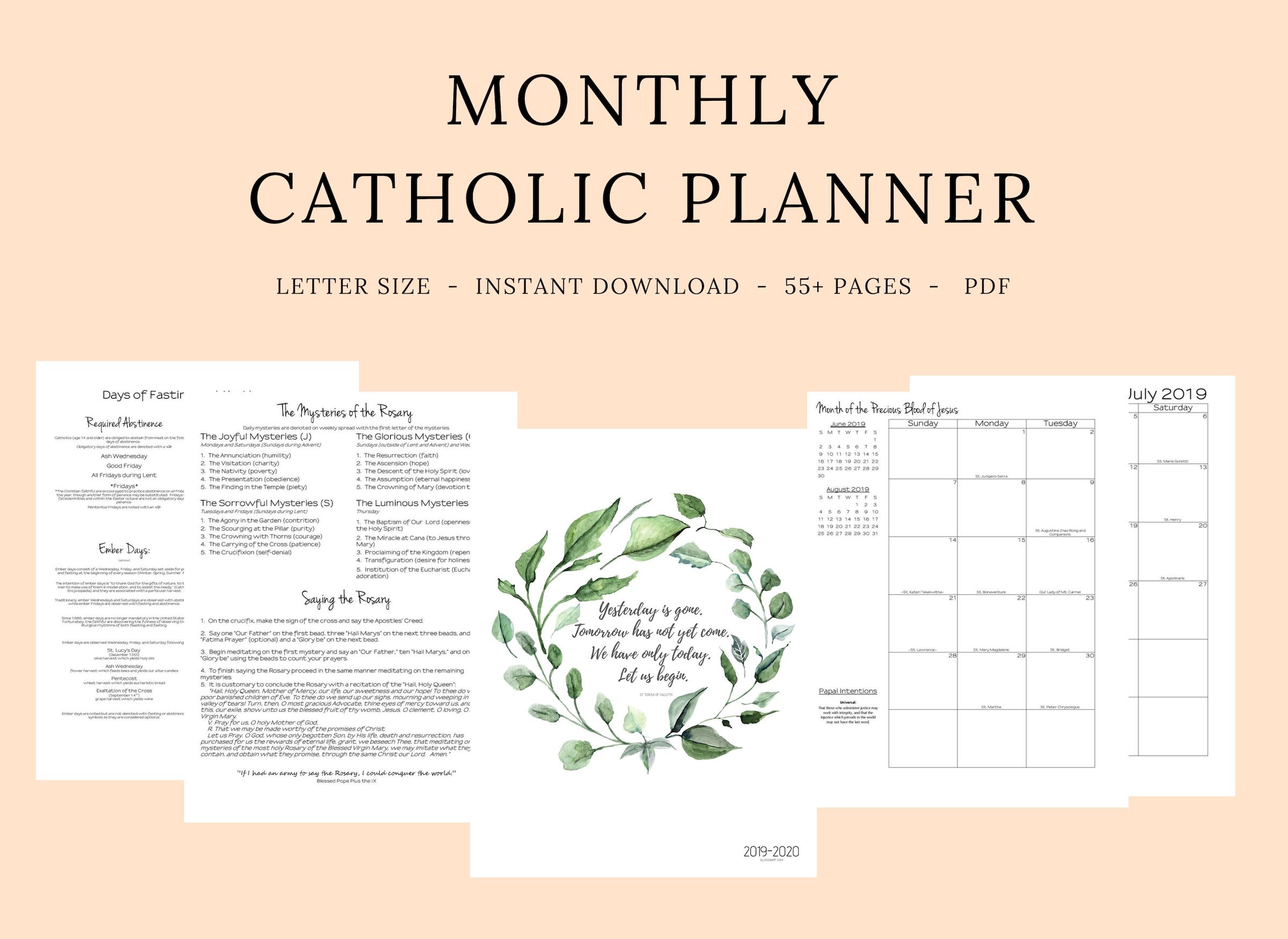 Catholic Liturgical Calendar 2020 Pdf - Calendar Inspiration intended for 2020 Catholic Liturgical Calendar Pdf