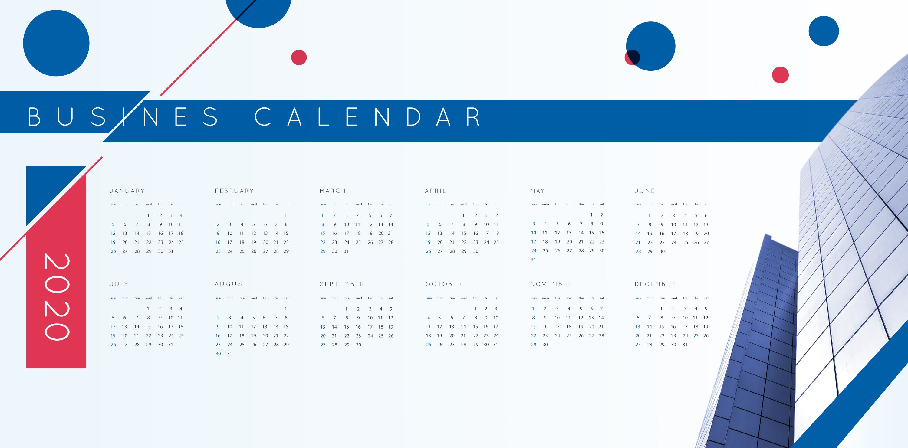 Check Out This Vector Business Calendar For The Year 2020 with regard to 2020 Etited Calendar