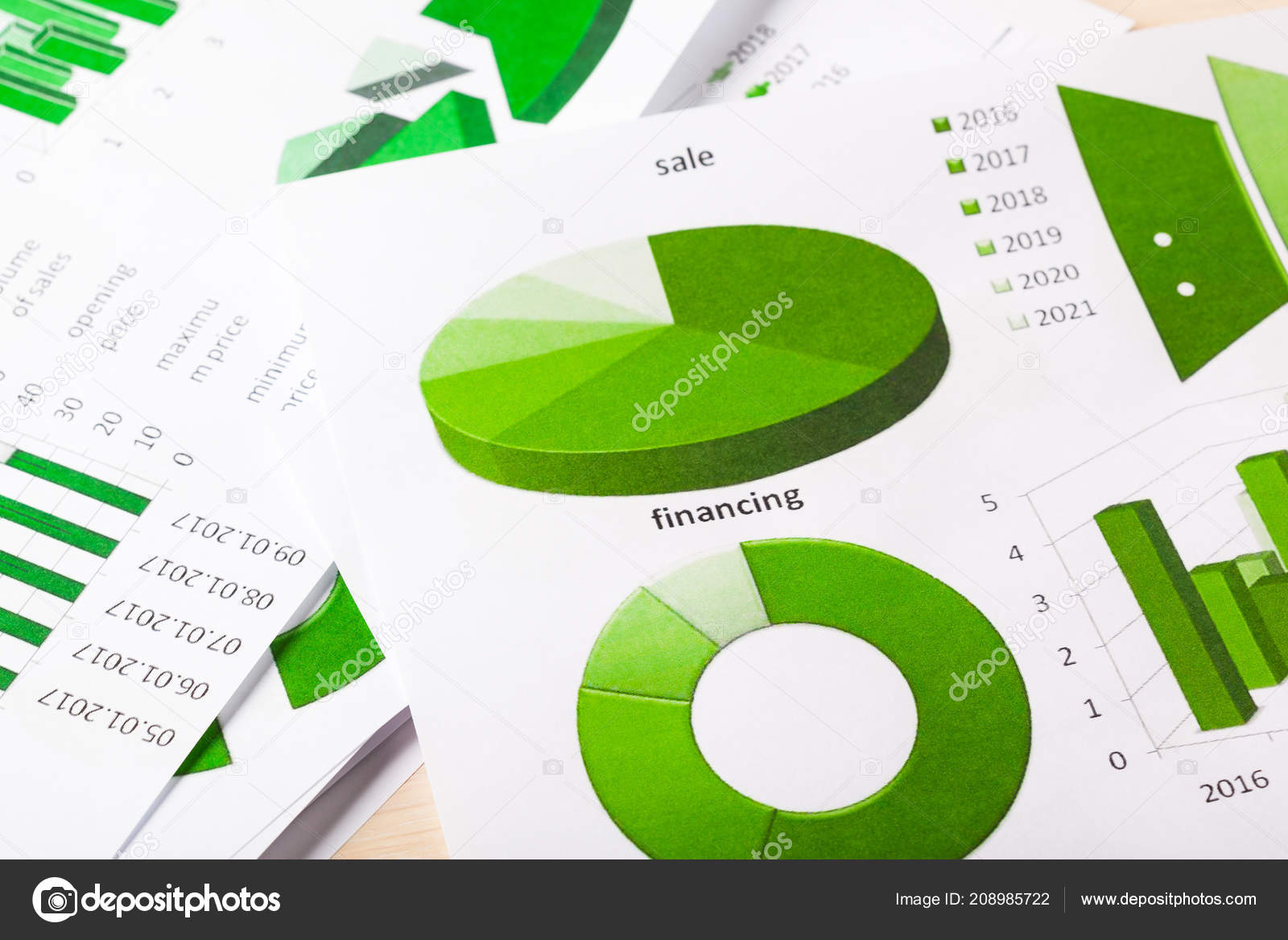 Close View Business Charts Graphs — Stock Photo regarding Depo Chart 2020