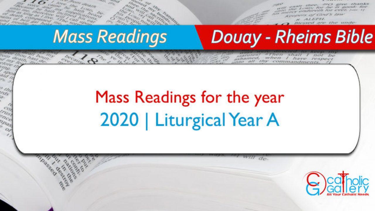Daily Mass Readings – 2020 - Catholic Gallery for 2020 Catholic Liturgical Calendar Activities