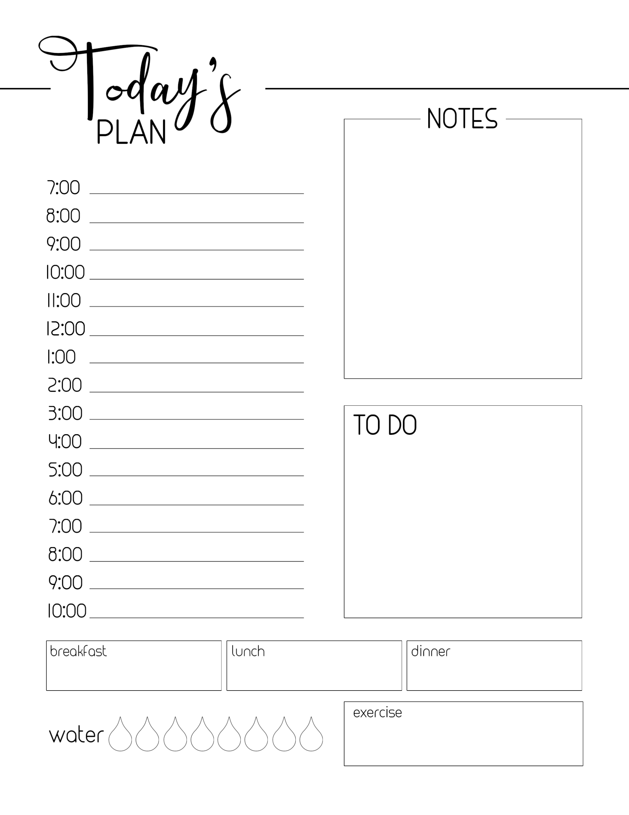 Daily Planner Sheets Free Printable - Wpa.wpart.co intended for Printable Daily Planner Sheets