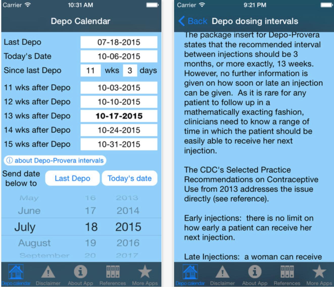 Depo Calendar App Could Significantly Improve Contraception for Depo Provera Calculator 2020