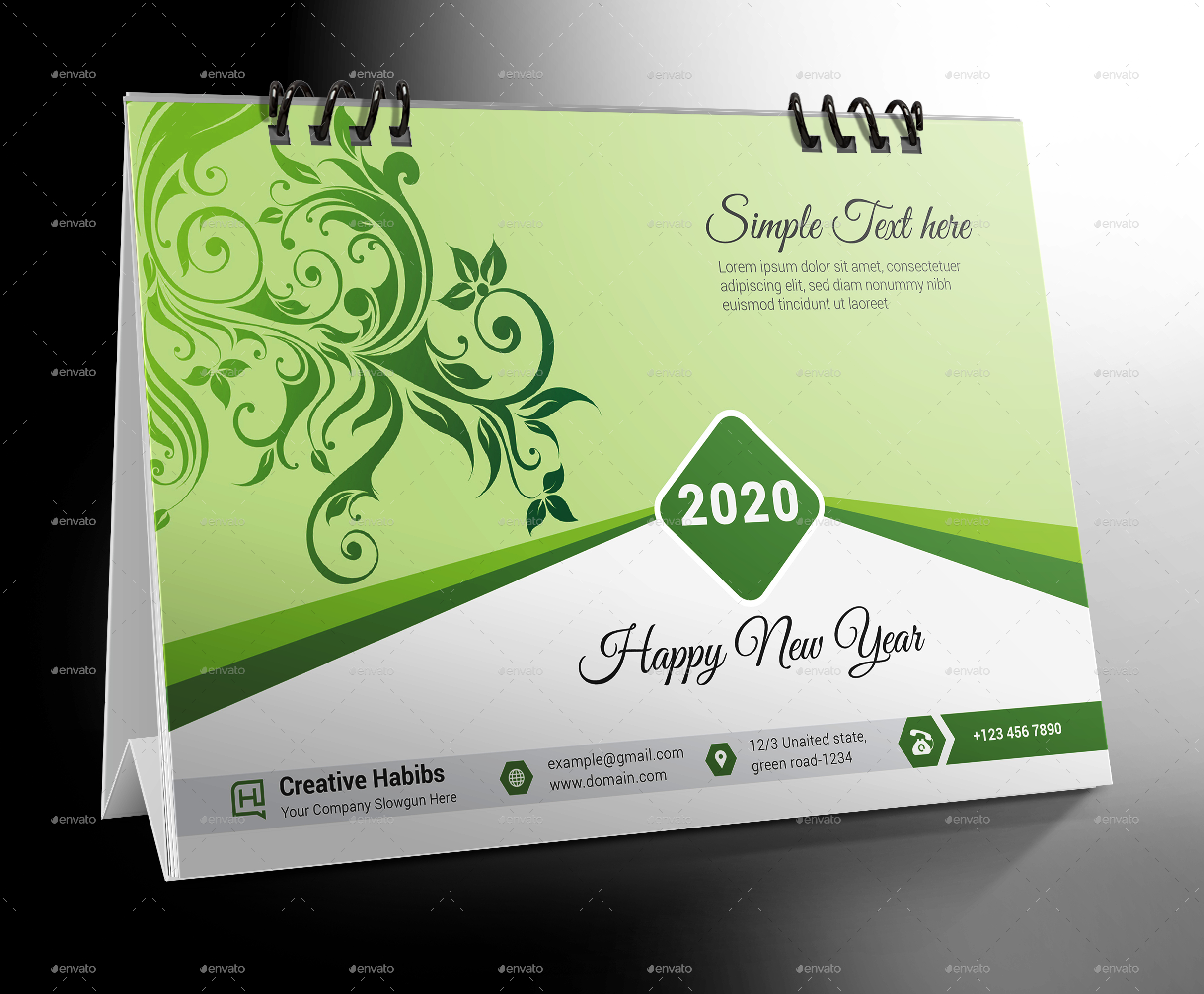 Desk Calendar 2020 within Tax Desk Card For 2020