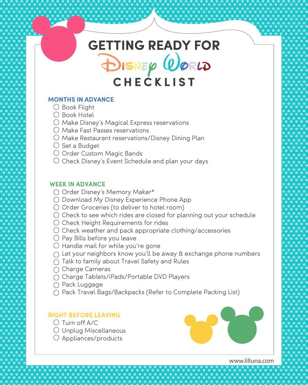 Disney World Packing List | 2020 Disney World | Disney World within Printable List Of Rides At Disney World 2020 Checklist