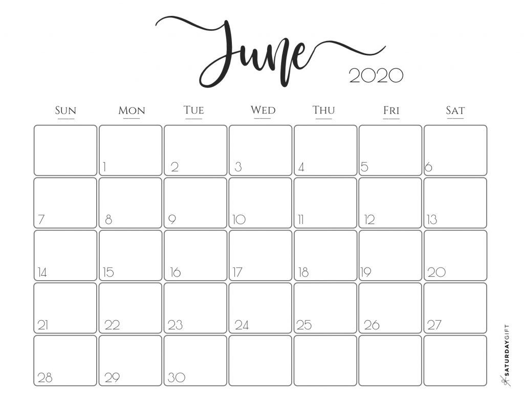Elegant 2020 Calendar {Free Printables} | Free Printable intended for 2020 Calendars To Print Without Downloading