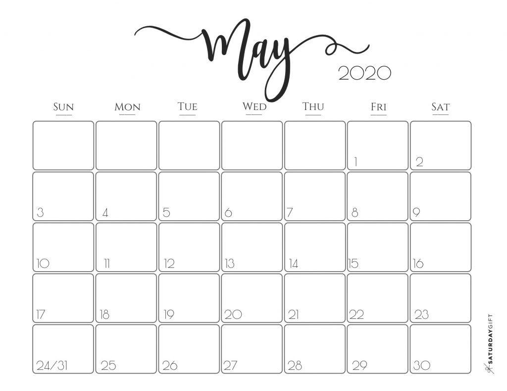 Elegant 2020 Calendar {Free Printables} | Printable Calendar pertaining to 2020 Calendars To Print Without Downloading