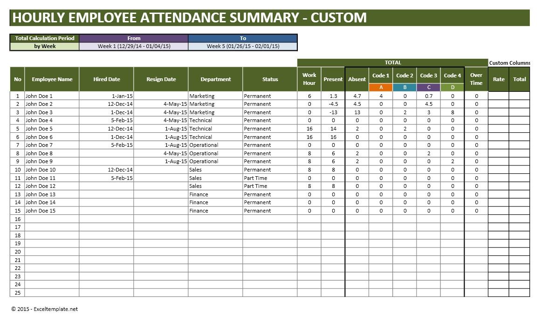 Excel Attendance Tracker Template Unique Printable with Attendance Tracker Printable