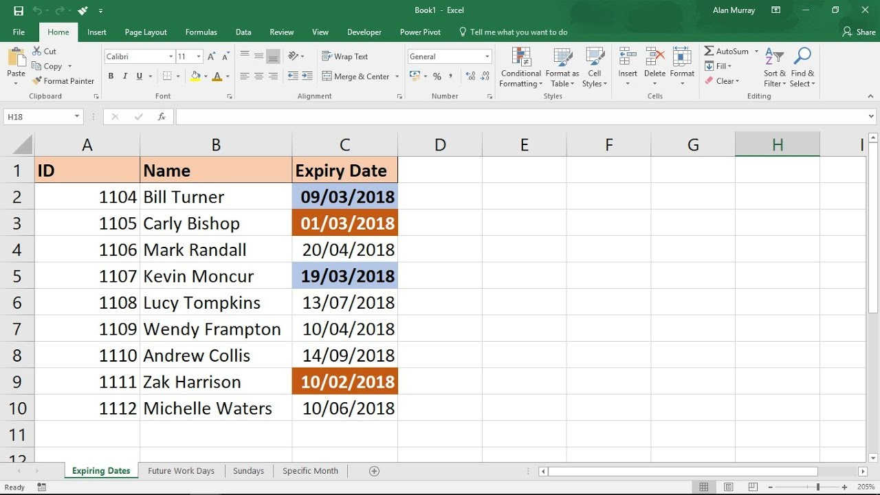 Excel Conditional Formatting With Dates - 5 Examples regarding Formatable Excel Monthly Calender 2020