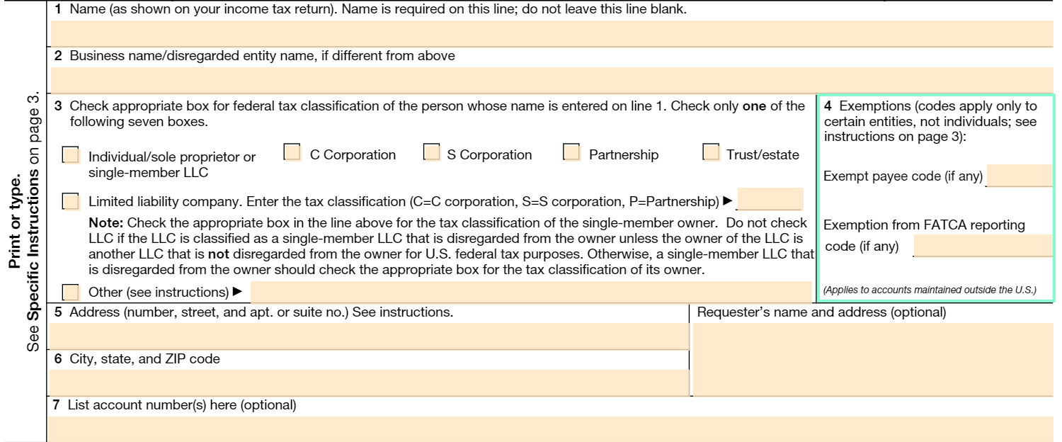 Fillable W-9 Form: Get Free Irs W-9 Template Online (2018 pertaining to Blank W 9 Printable Form Template