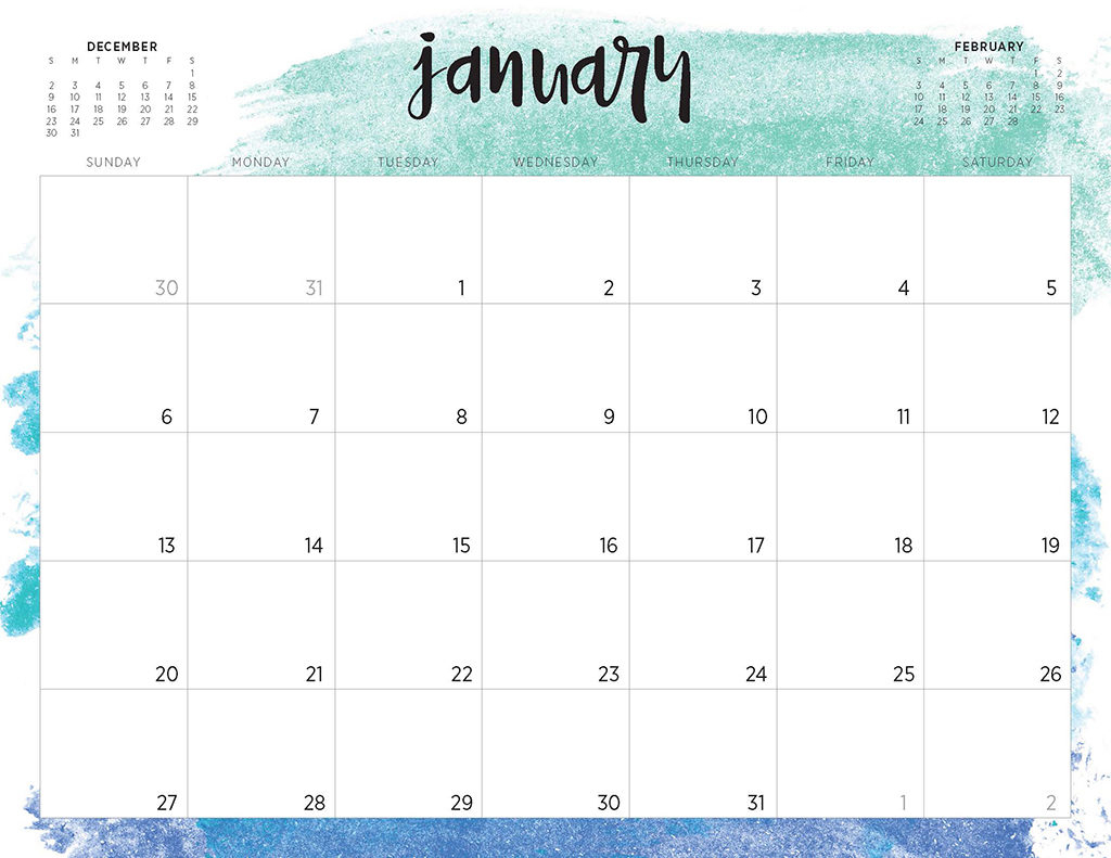 Free 2019 Printable Calendars - 46 Designs To Choose From! regarding National Food Day With Events Calender 2020 Free To Print Up