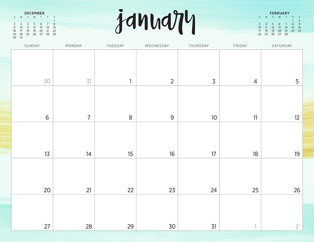 Free 2019 Printable Calendars - 46 Designs To Choose From! throughout Print Free Calendars Without Downloading