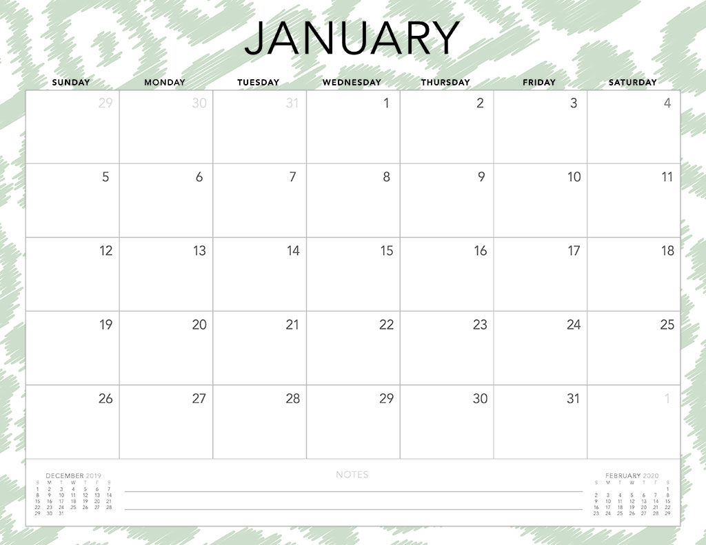 Free 2020 Printable Calendars - 51 Designs To Choose From! regarding 2020 Year Monday Start Monthly Calendar Printable