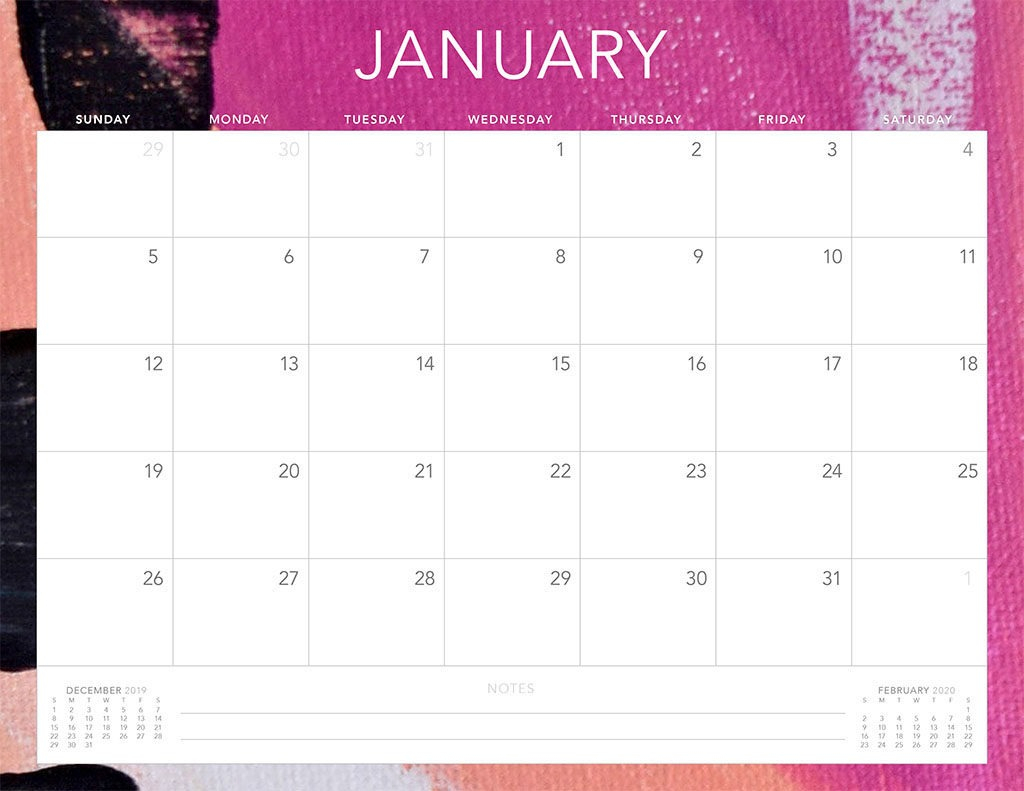 Free 2020 Printable Calendars - 51 Designs To Choose From! within Free Printable 2020 Calendars Large Numbers