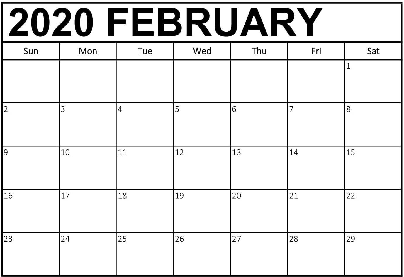 Free February 2020 Calendar Australia Holidays Printable intended for Calendar 2020 Australia