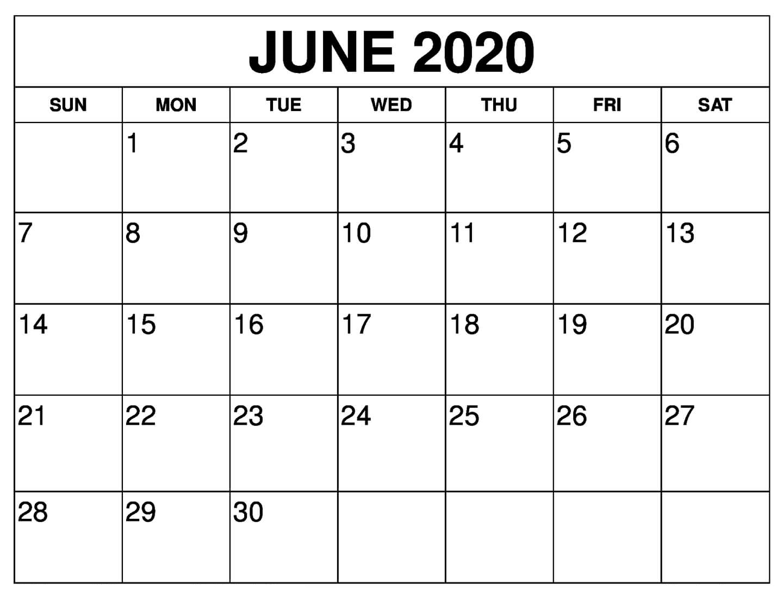 Free June 2020 Calendar Printable | 12 Month Printable Calendar with regard to 2020 Calendar Free