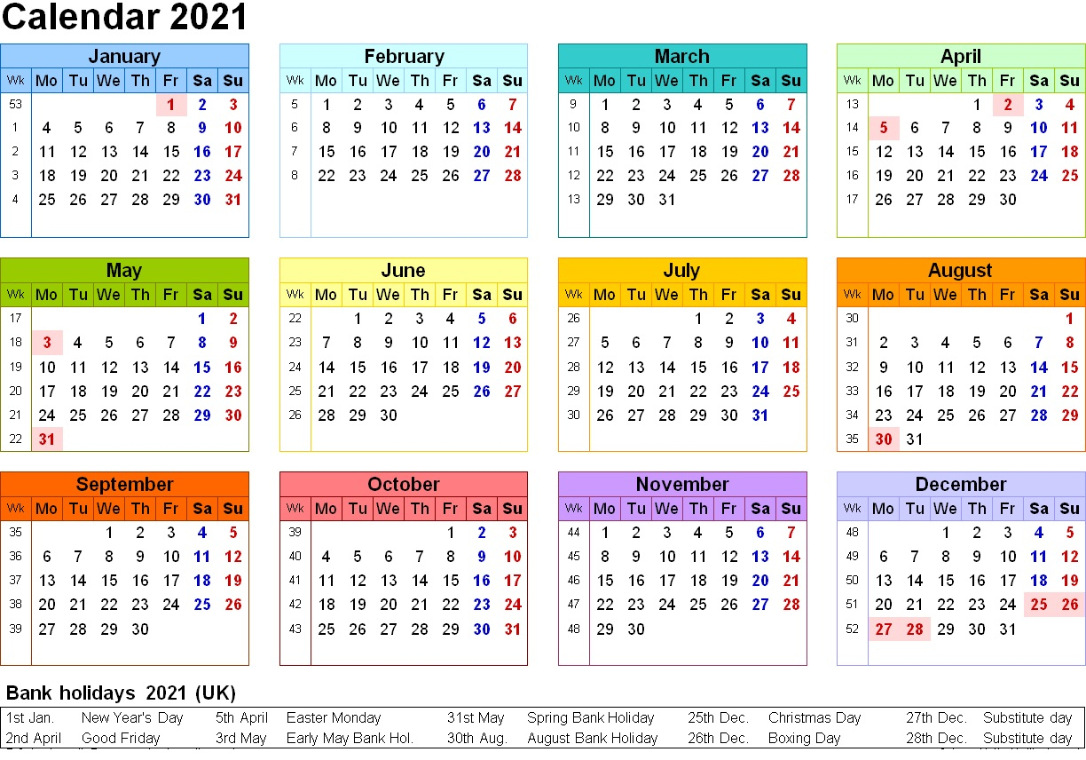 Free Printable 2021 Calendar Template 12 Months | Calendar intended for 2021 Printable Calendar Free