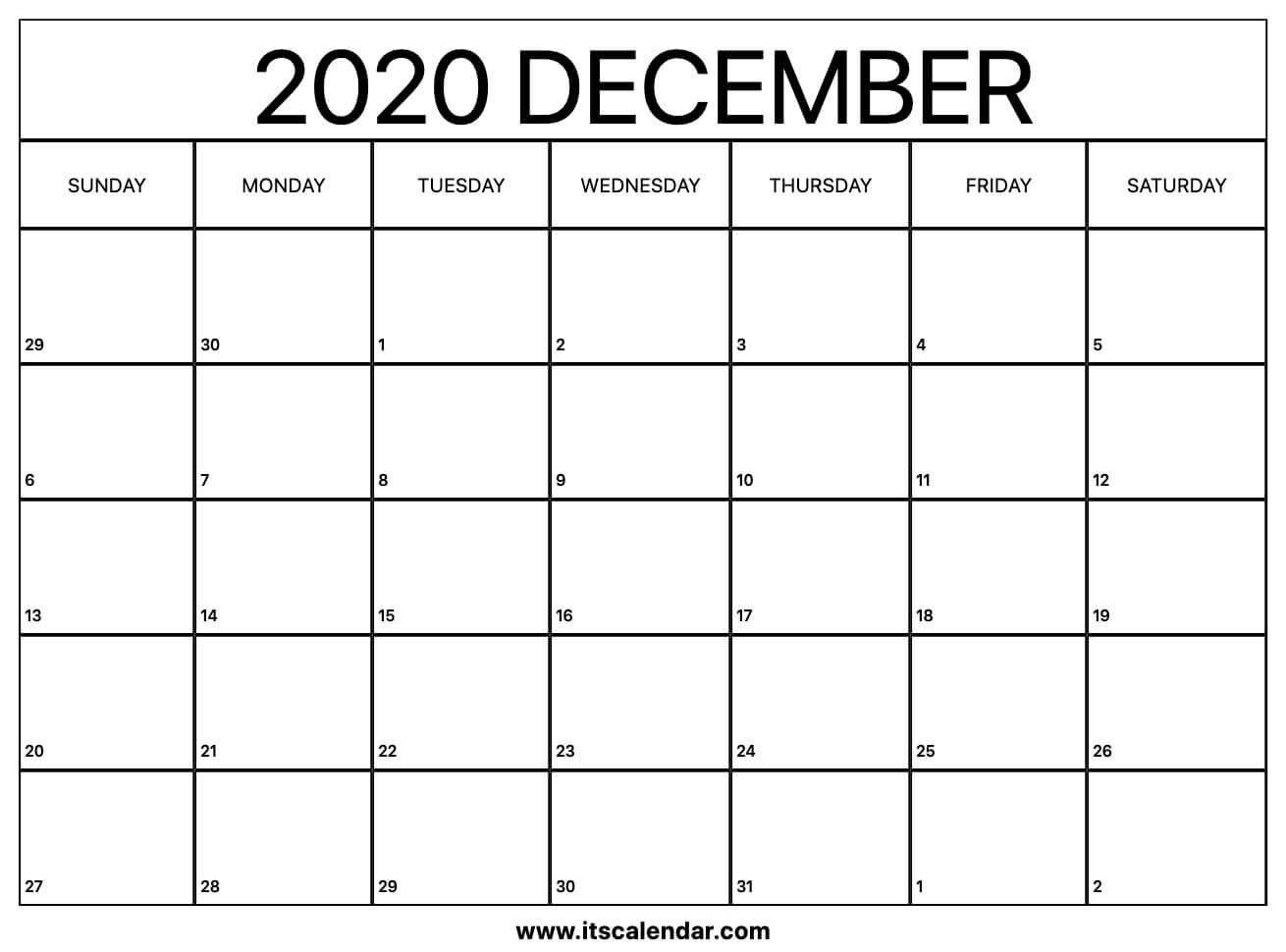 Free Printable December 2020 Calendar with regard to Festive Printable Calendar 2020