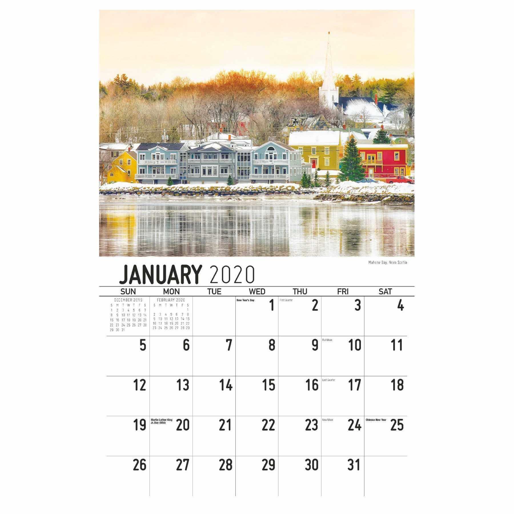 Galleria Wall Calendar 2020 Scenes Of Atlantic Canada within Yrdsb Calendar 2020